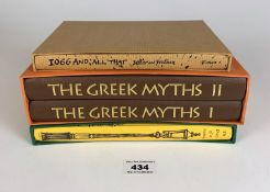 Folio Society The Greek Myths by Robert Graves, Vols 1 & 2, The Diary of a Nobody by George and