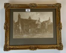 """Old photograph of """"White House Farm, Thornes"""". 11.5"""" x 7.5"""", frame 16"""" x 13"""". Good condition"""