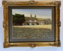 "Watercolour ""Lupset Farm"", 11.5"" x 8.5"", frame 16"" x 13"", non reflective glass. Unsigned. Good"