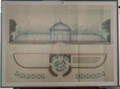 """Print """"Ville de Tarbes"""", stamped Archives des Hautes-Pyrenees, Propriete Publique, 33"""" x 23.5"""","""
