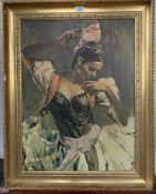 """Print on canvas """"Gipsy Dancer"""" by Ramon. 17.5"""" x 23.5"""", frame 23.5"""" x 29.5"""". Framed by Studio"""