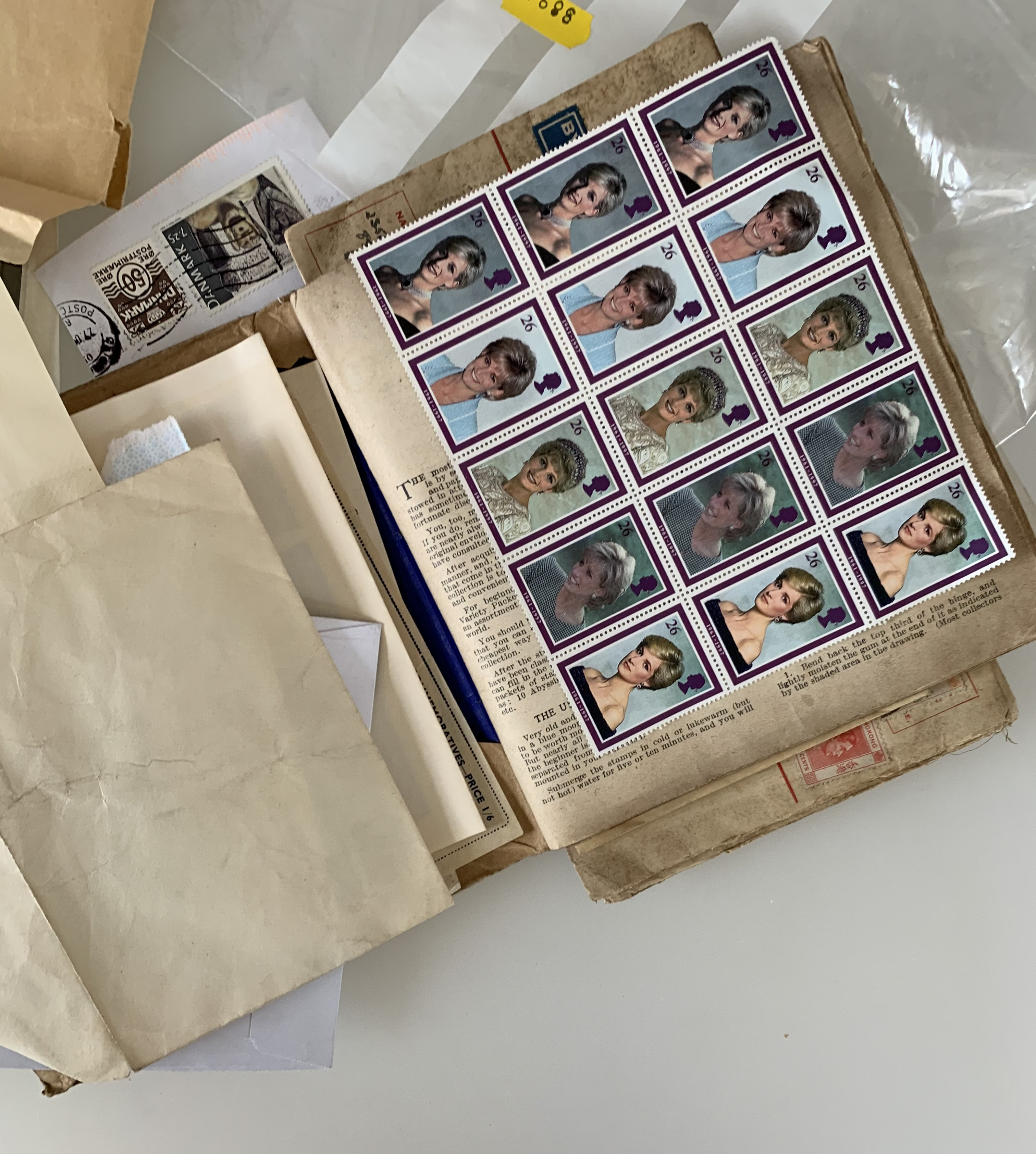 Roll of mint stamps and new and used stamps - Image 2 of 2