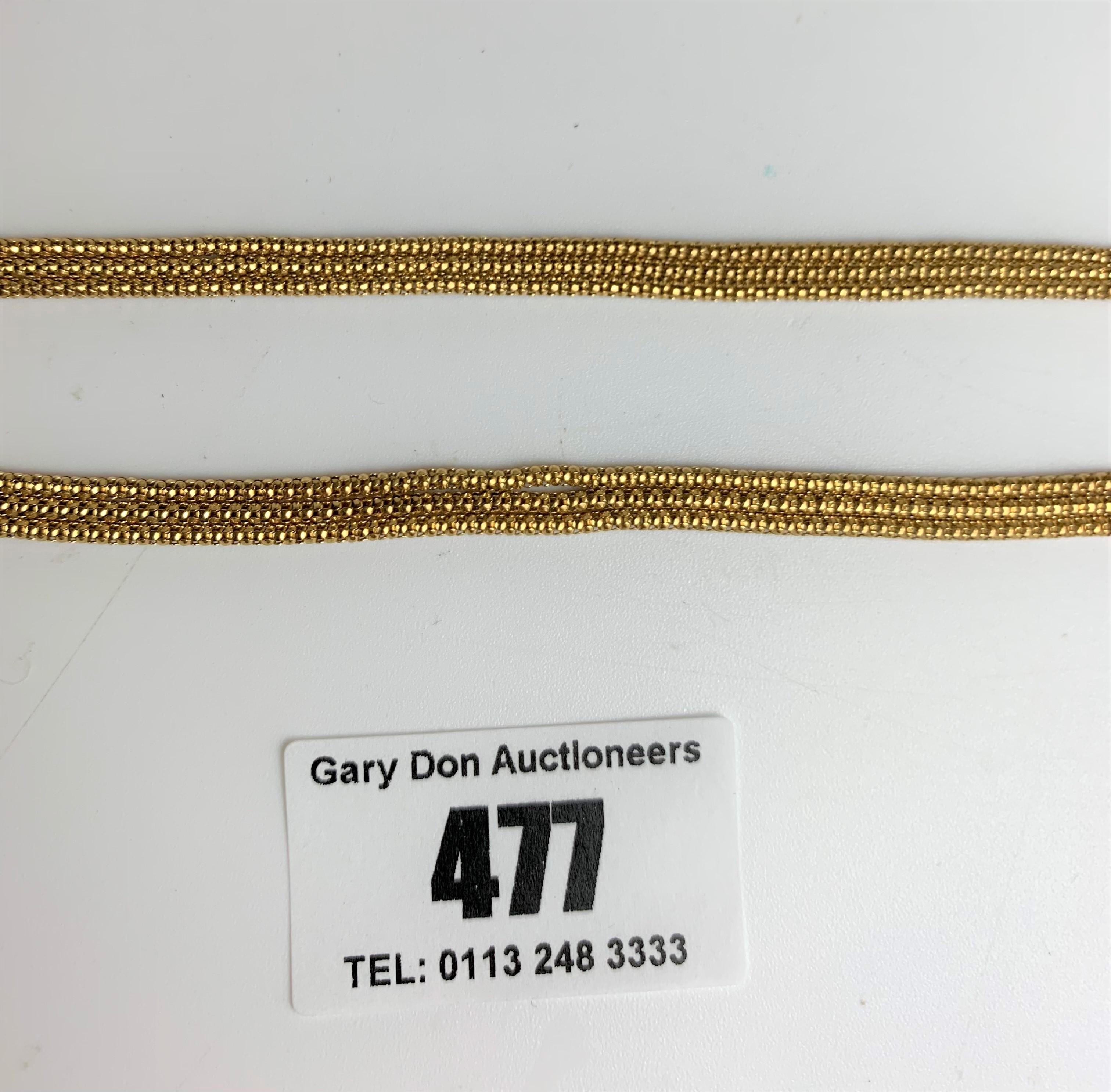 "9k gold necklace, length 16.5"", w: 11.4 gms - Image 4 of 5"