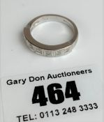 18k white gold and diamond half eternity ring, size L, w: 4.7 gms
