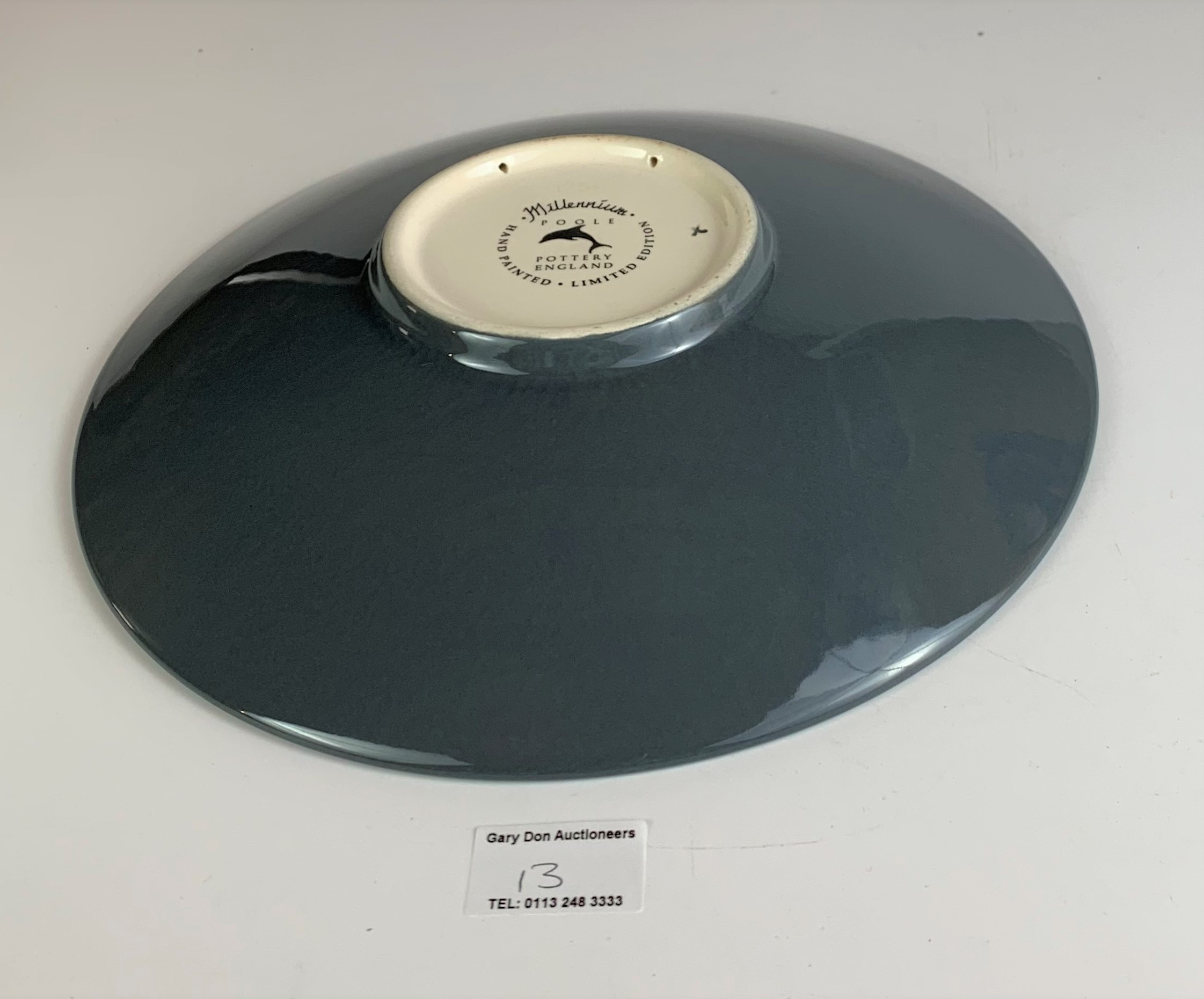 """Limited edition Poole plate, Millennium no. 211/500 with certificate, 10.5"""" diameter, no damage - Image 6 of 6"""