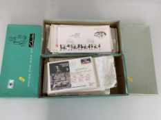2 shoe boxes of First Day Covers