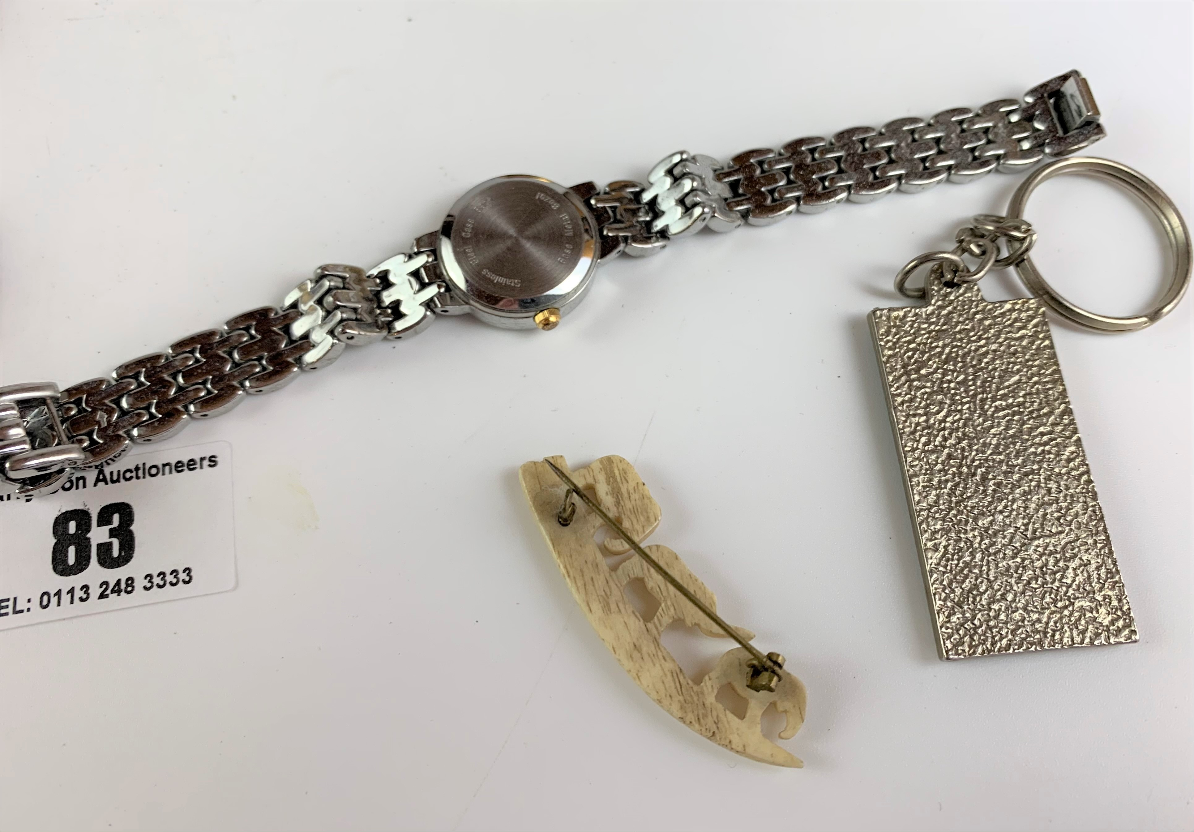 Bag of assorted dress watches, necklaces, keyrings and wooden mouse - Image 7 of 7