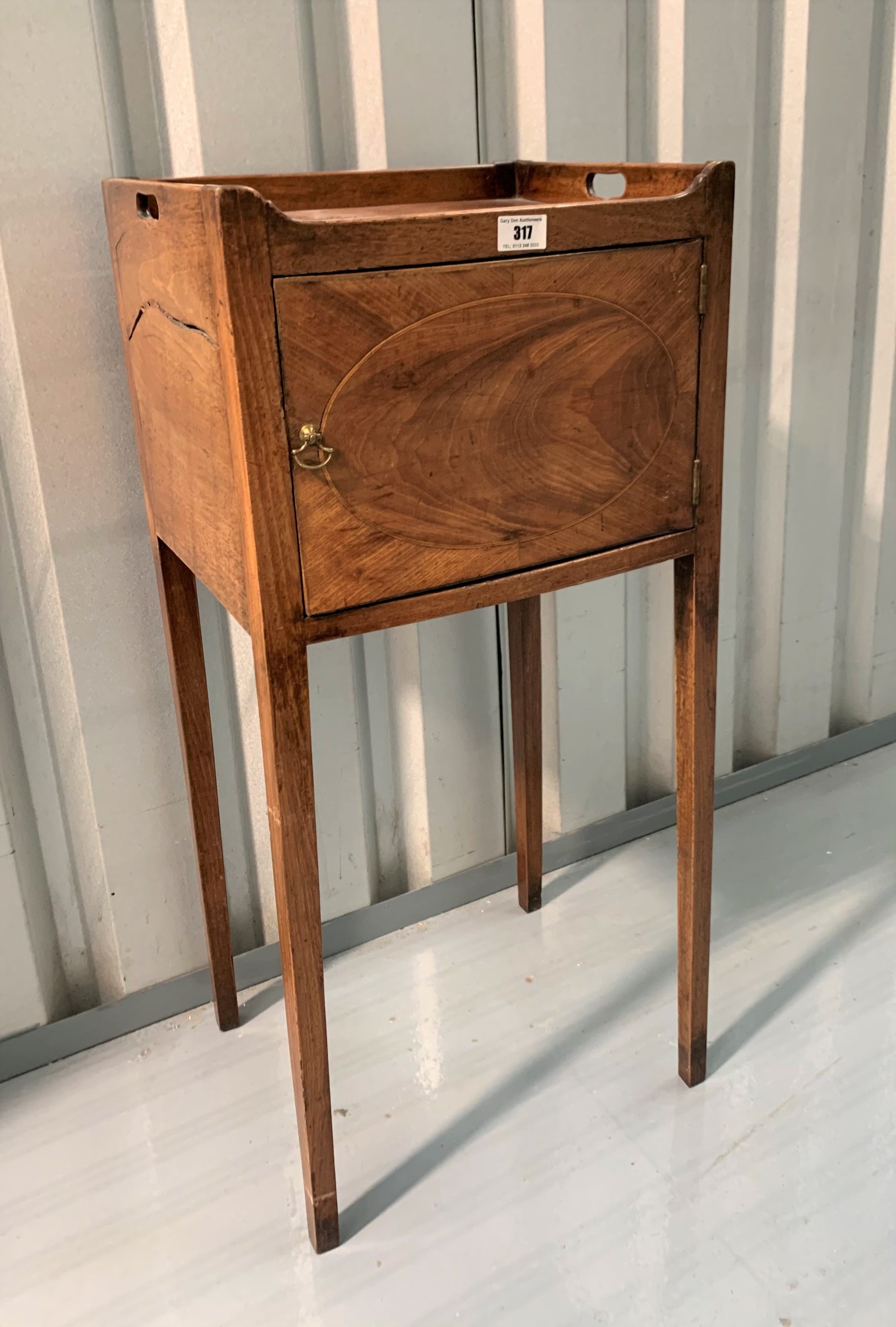 """Mahogany pot cupboard/stand. 31"""" high, 14"""" wide, 12"""" deep - Image 2 of 7"""
