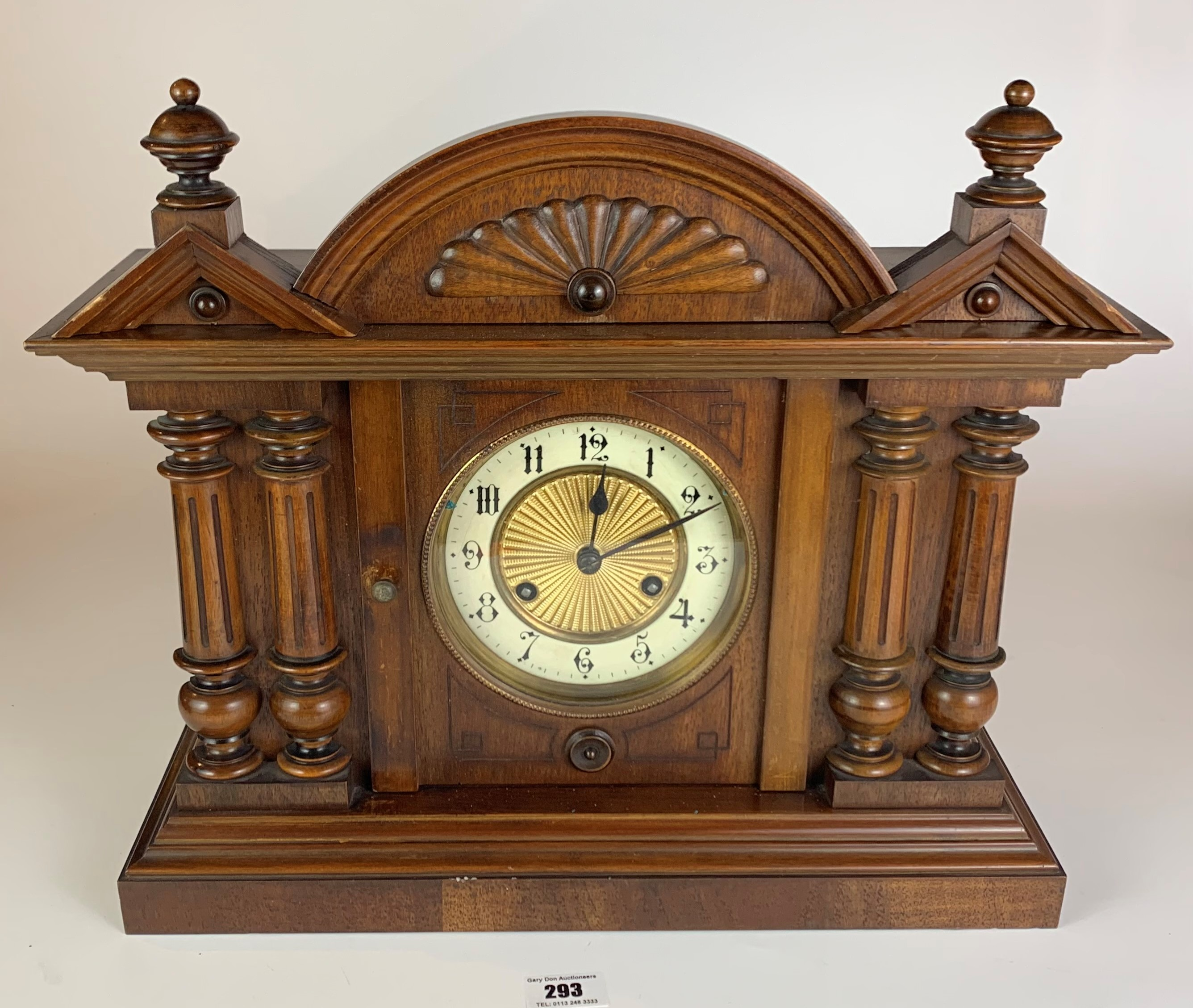 """Antique mantle clock, 14.5"""" high, 16.5"""" wide - Image 2 of 6"""