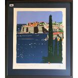 Paul Hogarth OBE RA, 'Dubrovnik Restituta', limited edition print, blind stamp, signed in pencil and