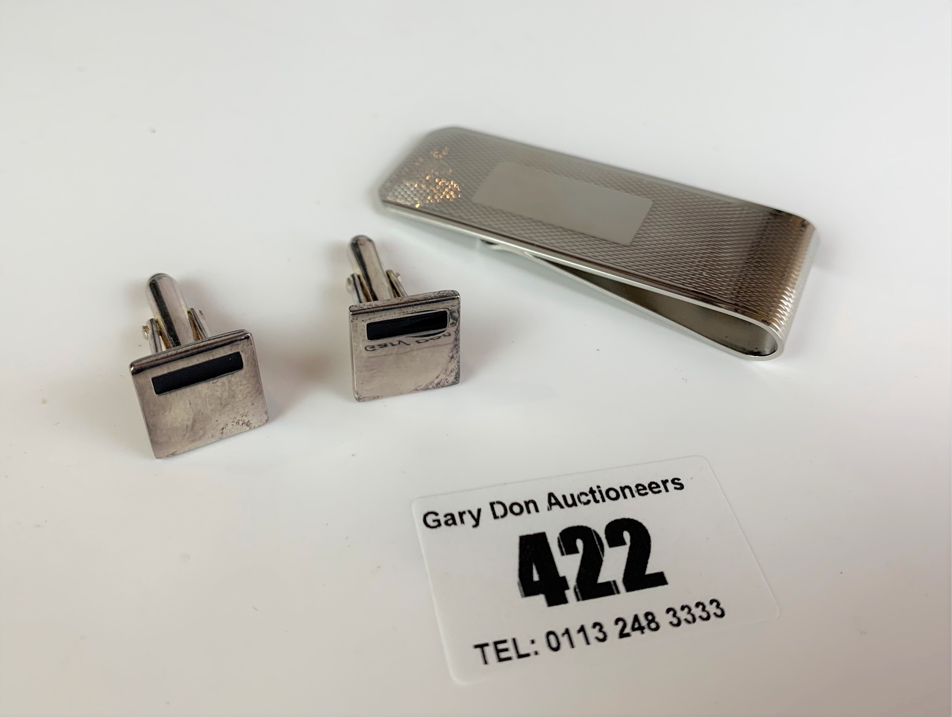 Boxed set of silver Fred Bennett cufflinks, total w: 0.3 ozt - Image 3 of 4