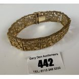 "9k gold bangle, length 7.5"", w: 35.2 gms"