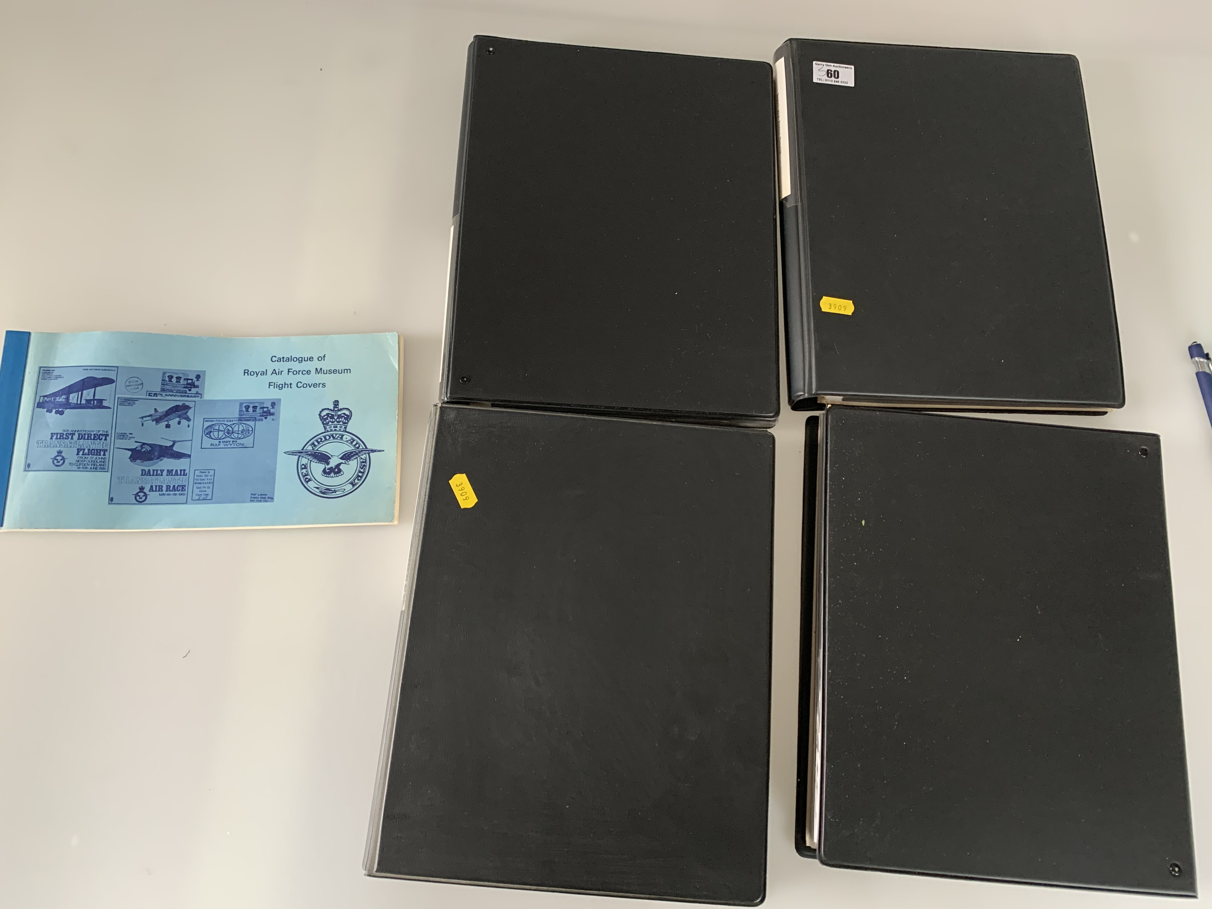 Catalogue of RAF Museum Flight Covers and 4 albums of RAF Covers