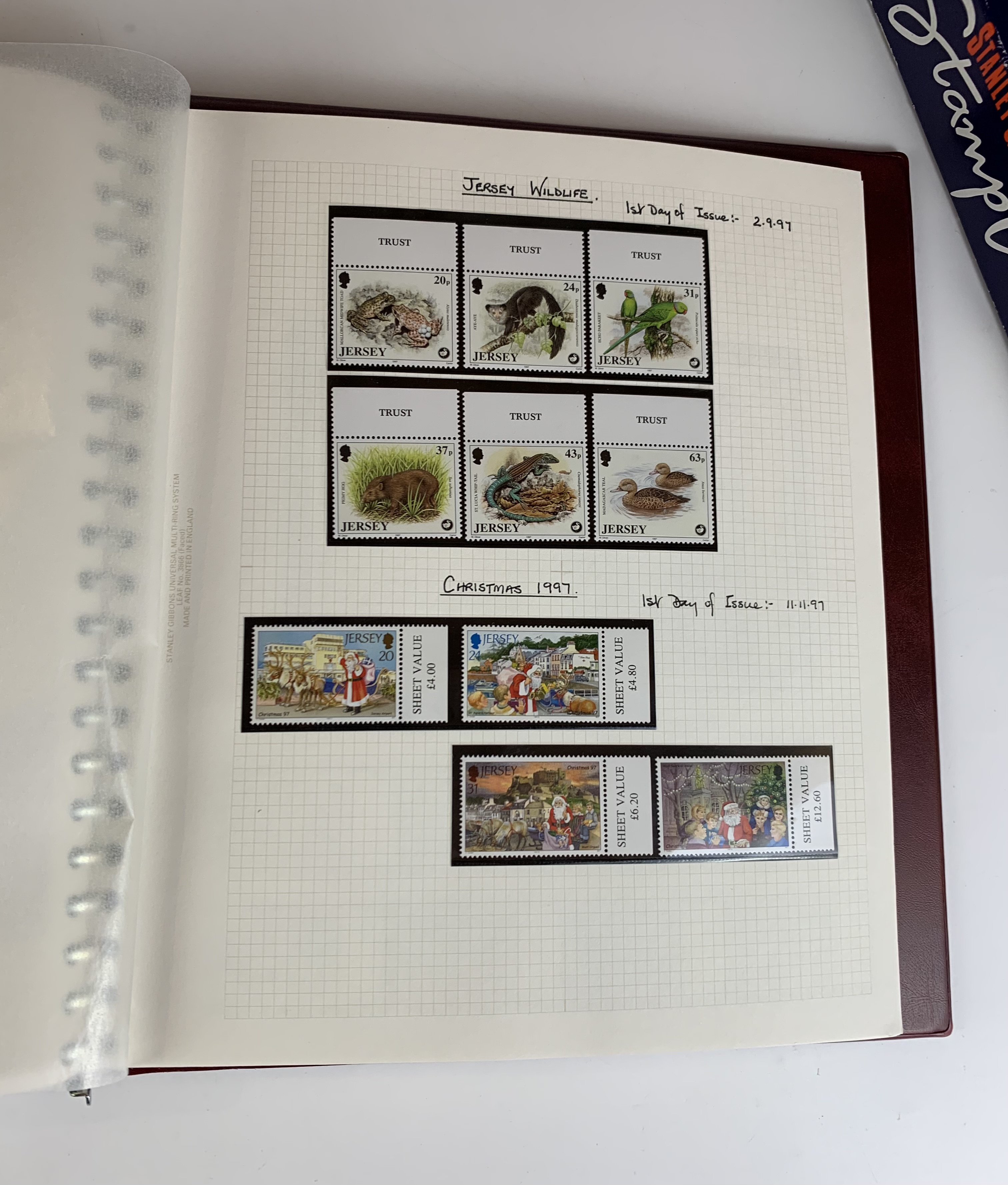 Boxed Stanley Gibbons album of mint UK/Guernsey/Jersey/Isle of Wight stamps and first day covers - Image 3 of 4