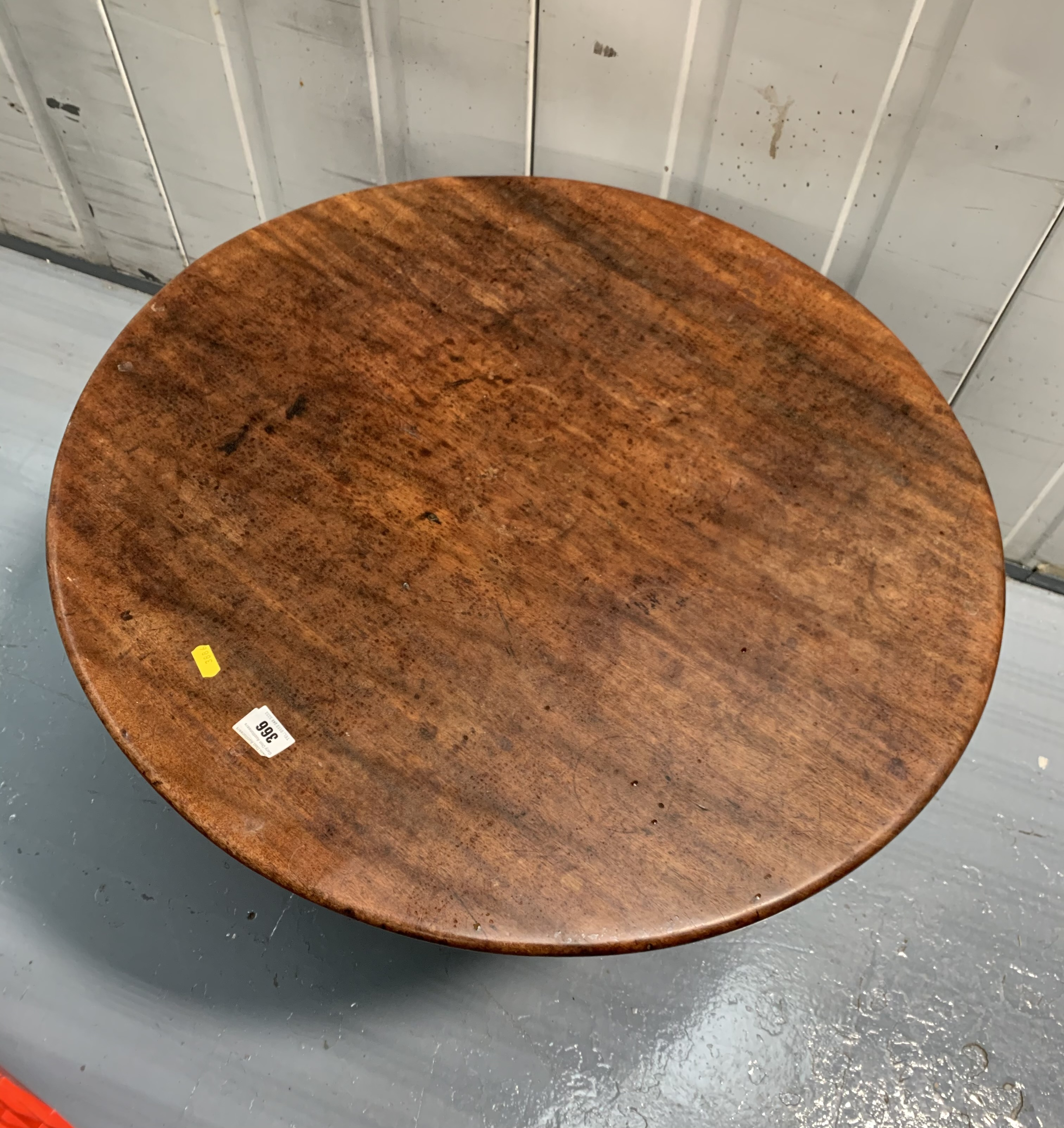 """Small tilt top loo table 36"""" high tilted, 29"""" diameter table - Image 4 of 4"""