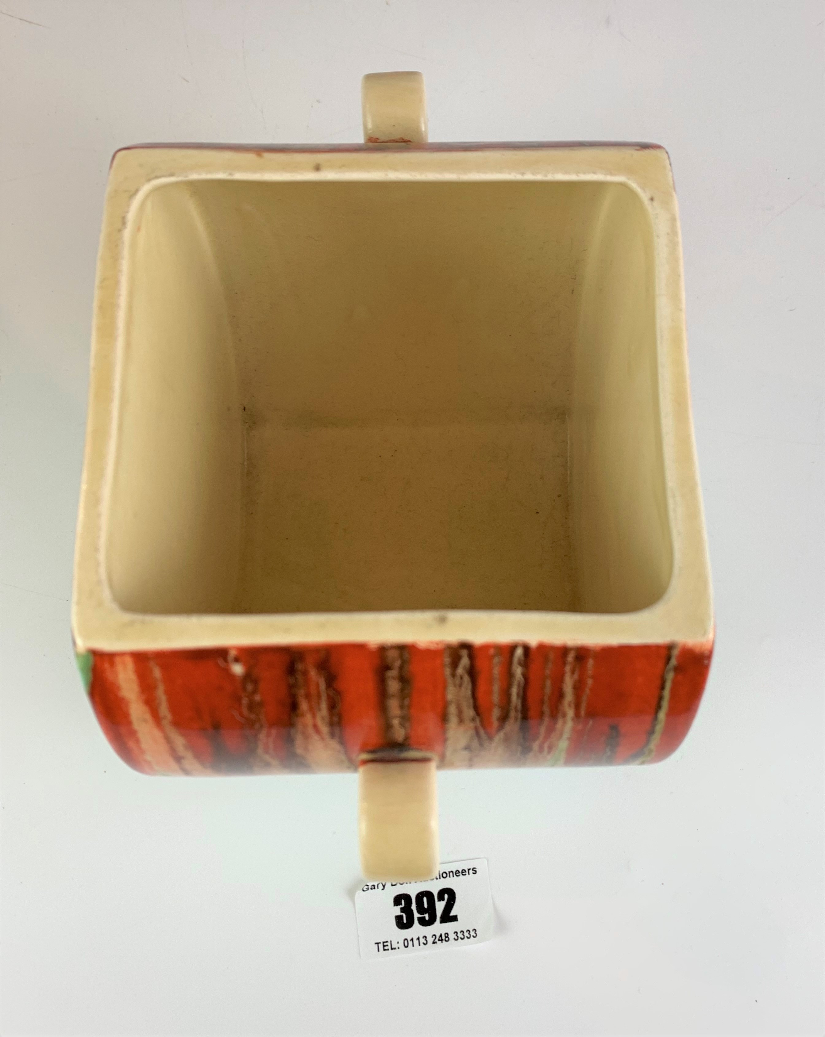"""Clarice Cliff Bizarre biscuit barrel, 4.5"""" high x 7"""" wide. No damage - Image 7 of 8"""