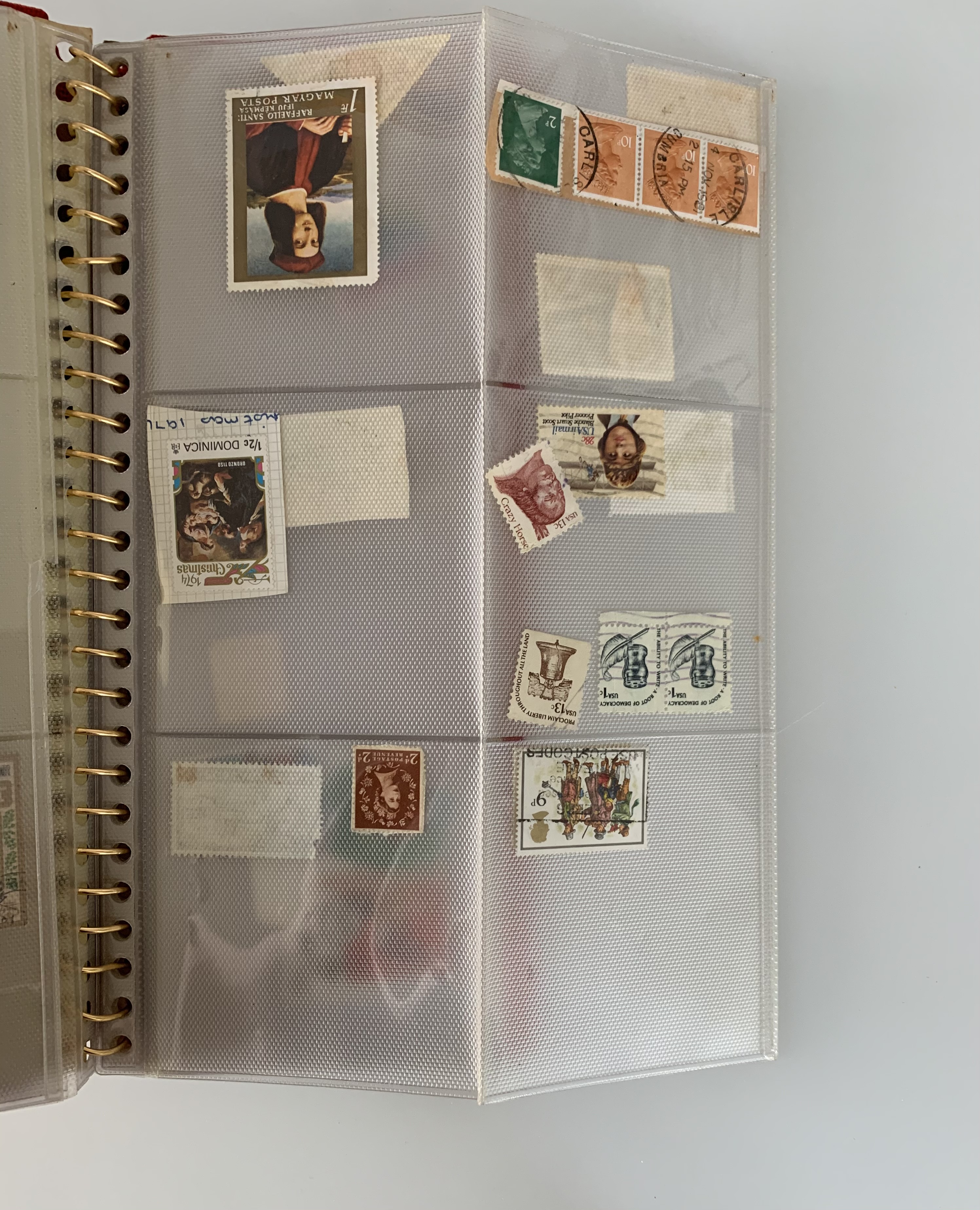 Small red album of world stamps - Image 3 of 3