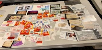 3 Bags of First Day Covers, stamps on paper and mint stamp booklets