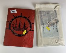 Red Nelson album of world stamps and envelope of loose stamps and first day covers