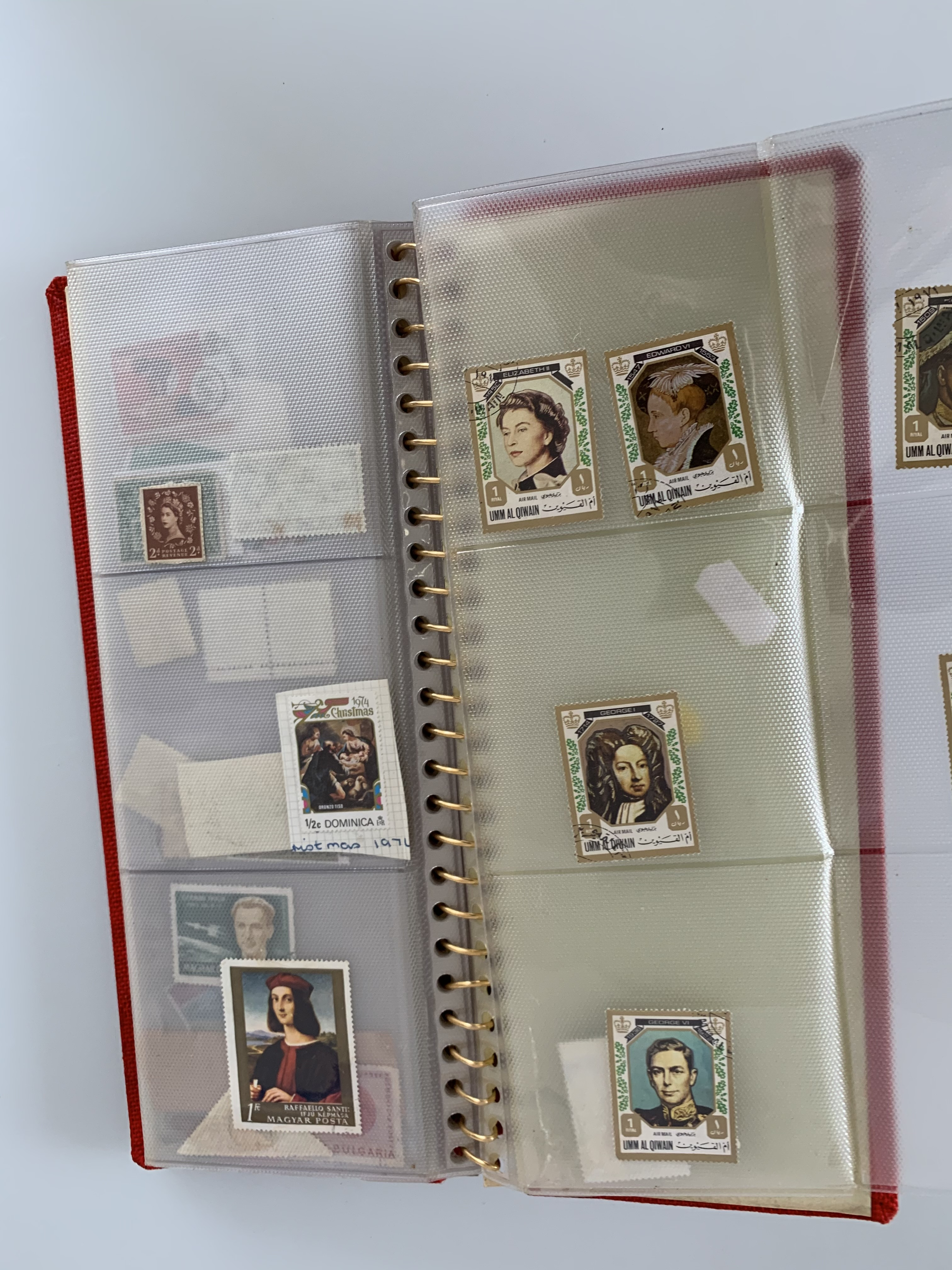 Small red album of world stamps - Image 2 of 3