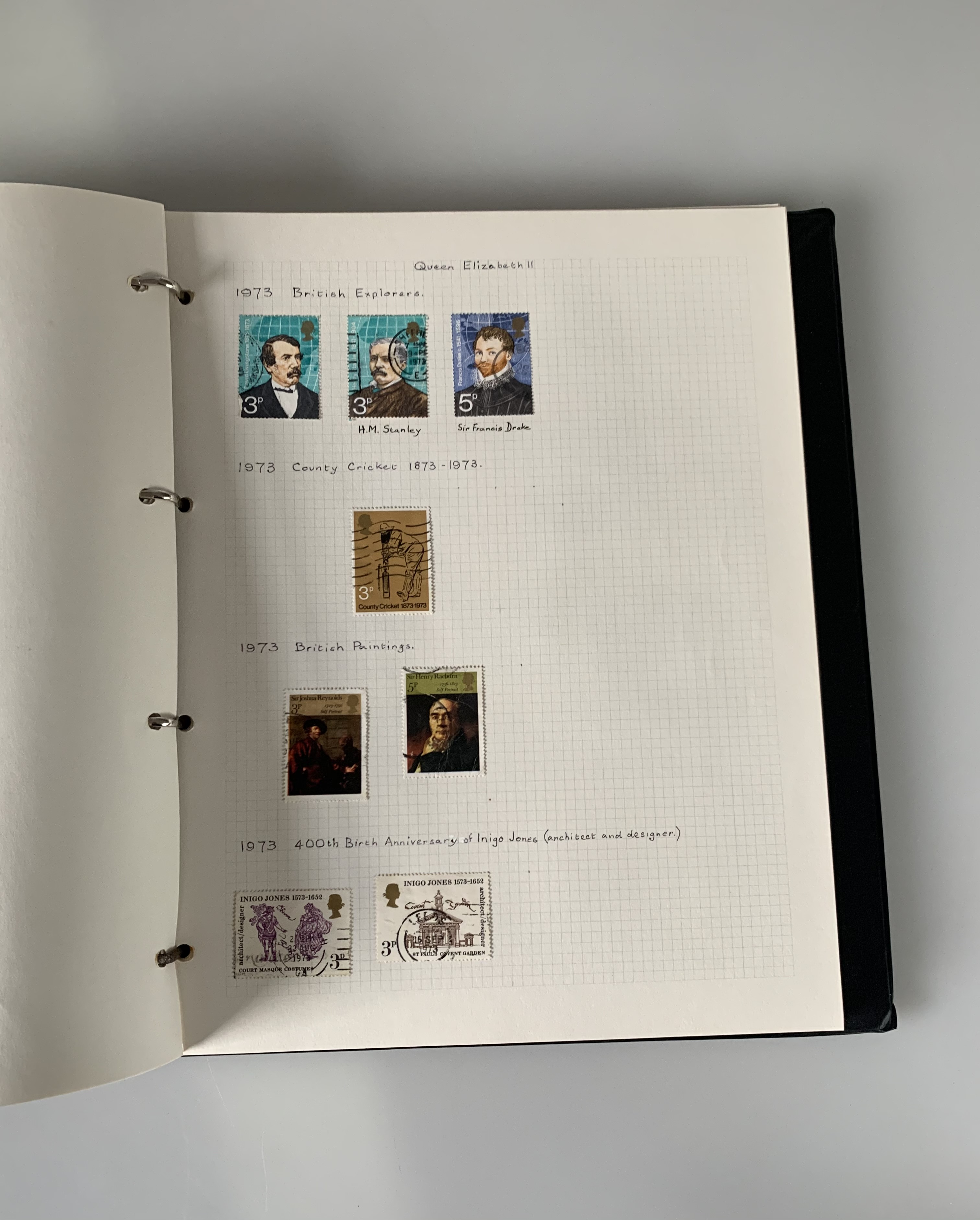 Red GB stamp album including a Penny Black with Maltese Cross stamp - Image 3 of 5