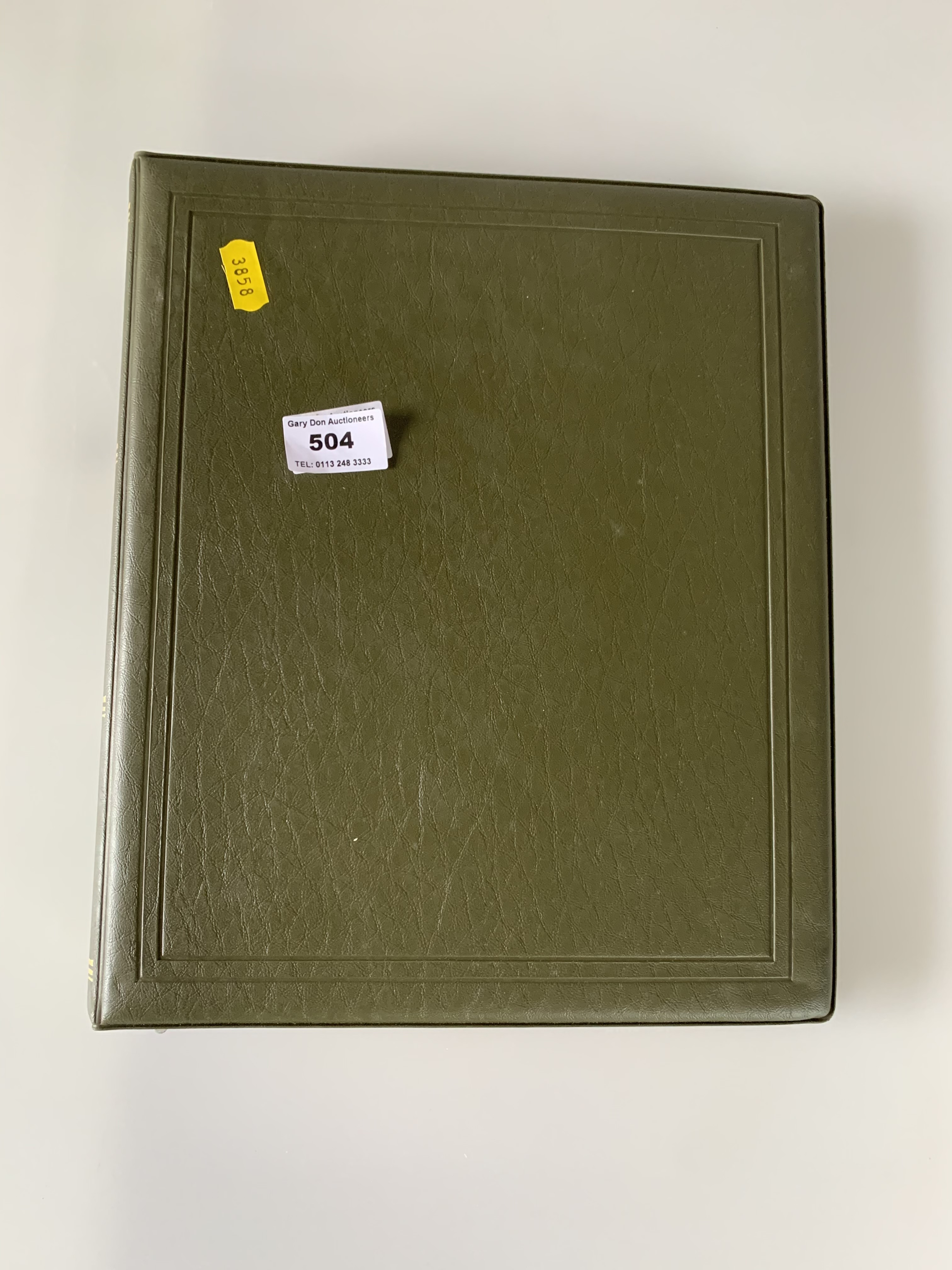 Green album of mint GB decimal stamps