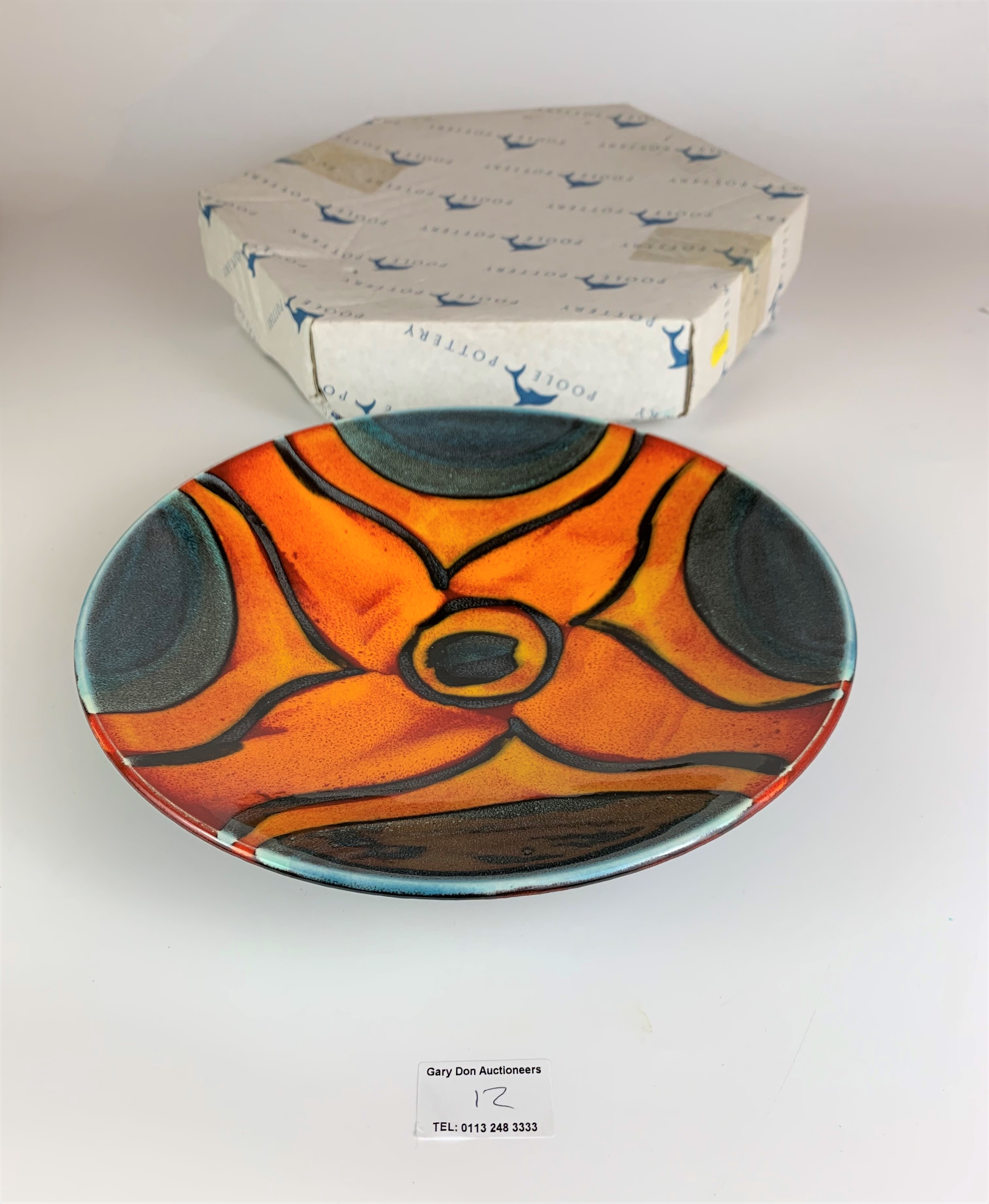 """Boxed Poole plate, Peacock, 10.5"""" diameter, no damage - Image 3 of 7"""