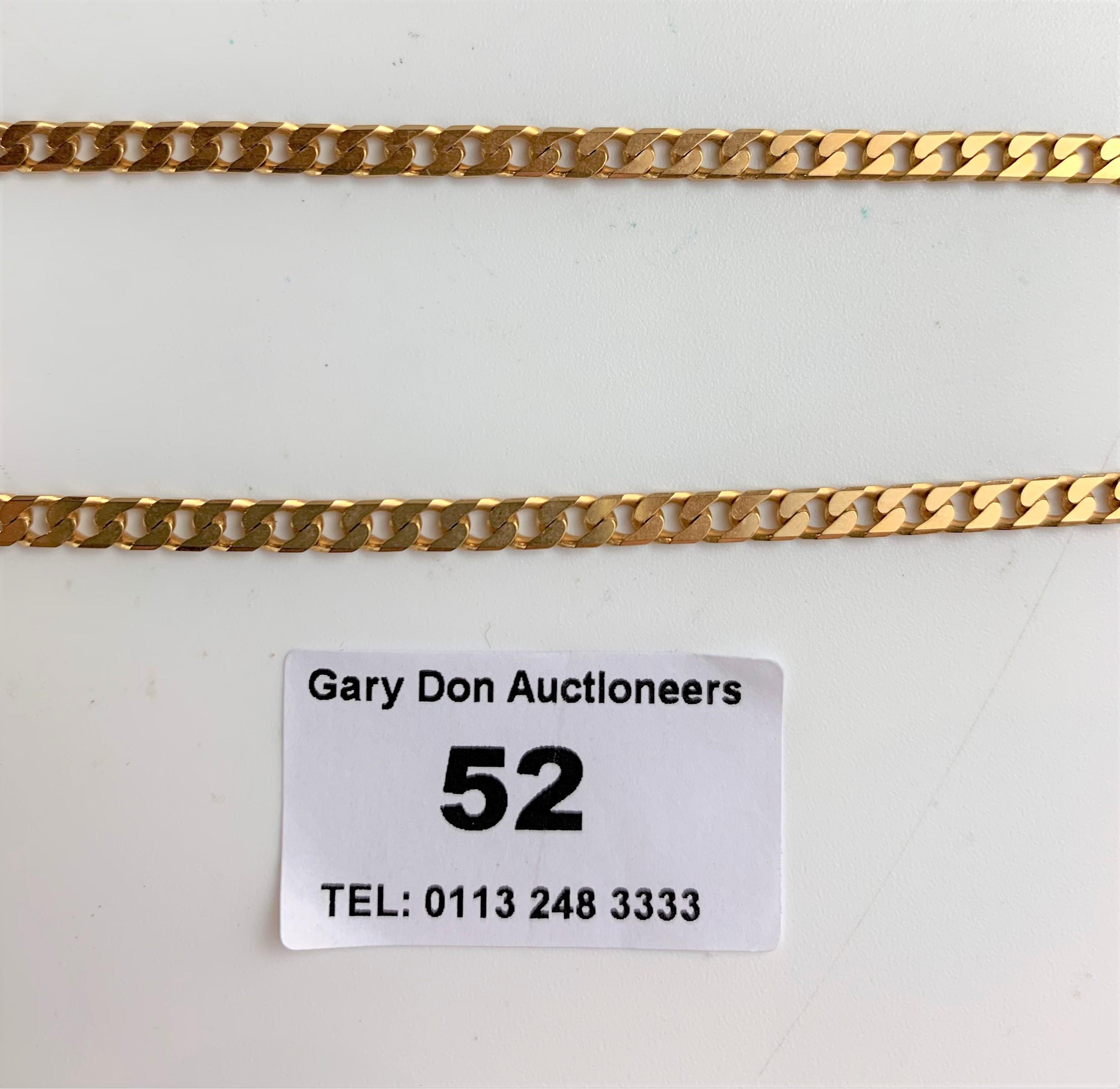 "9k gold necklace, length 18"", w: 12 gms - Image 4 of 4"