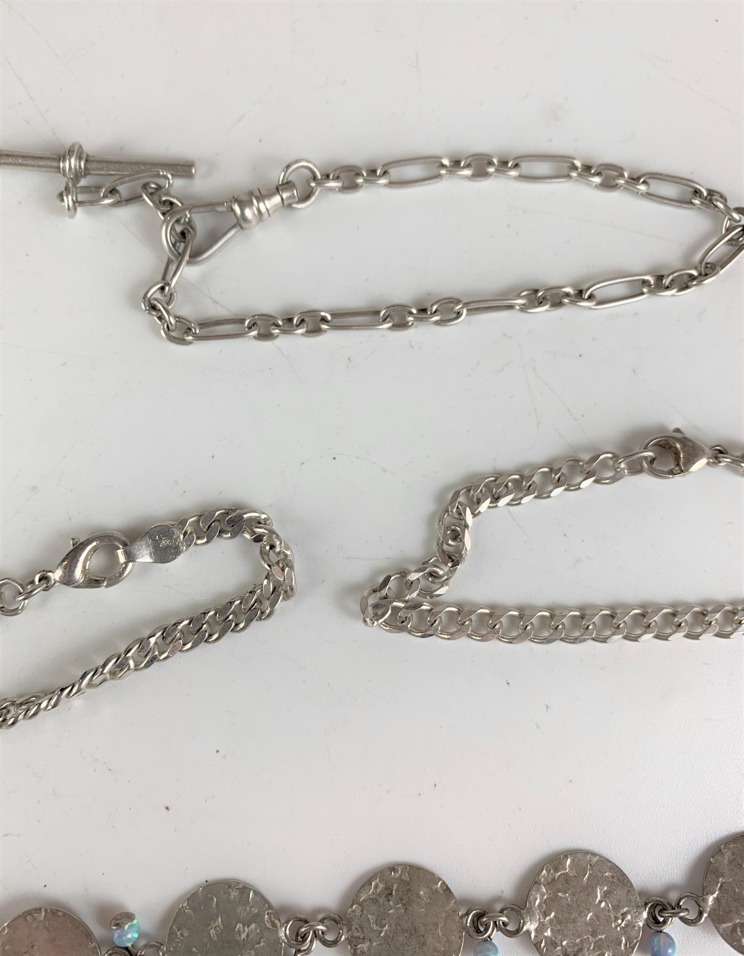 5 silver bracelets, total w: 1.2 ozt - Image 4 of 6