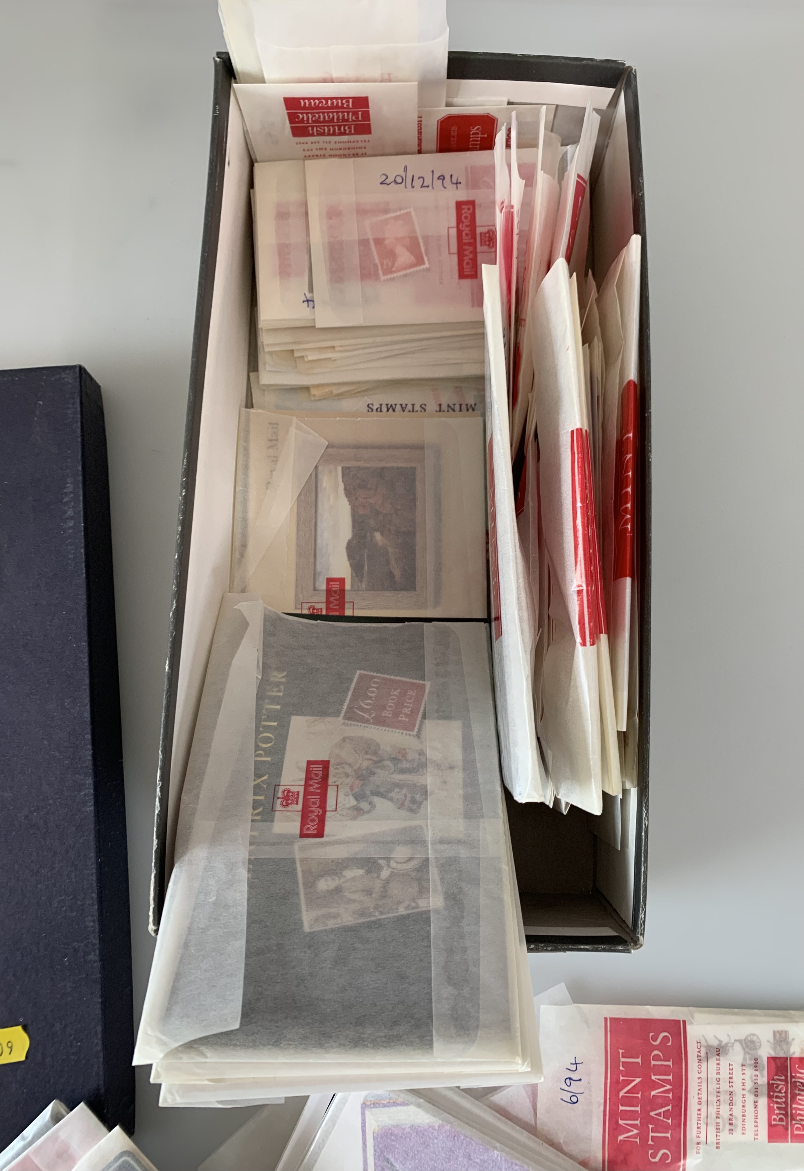 Shoebox of packets of mint stamps - Image 2 of 2
