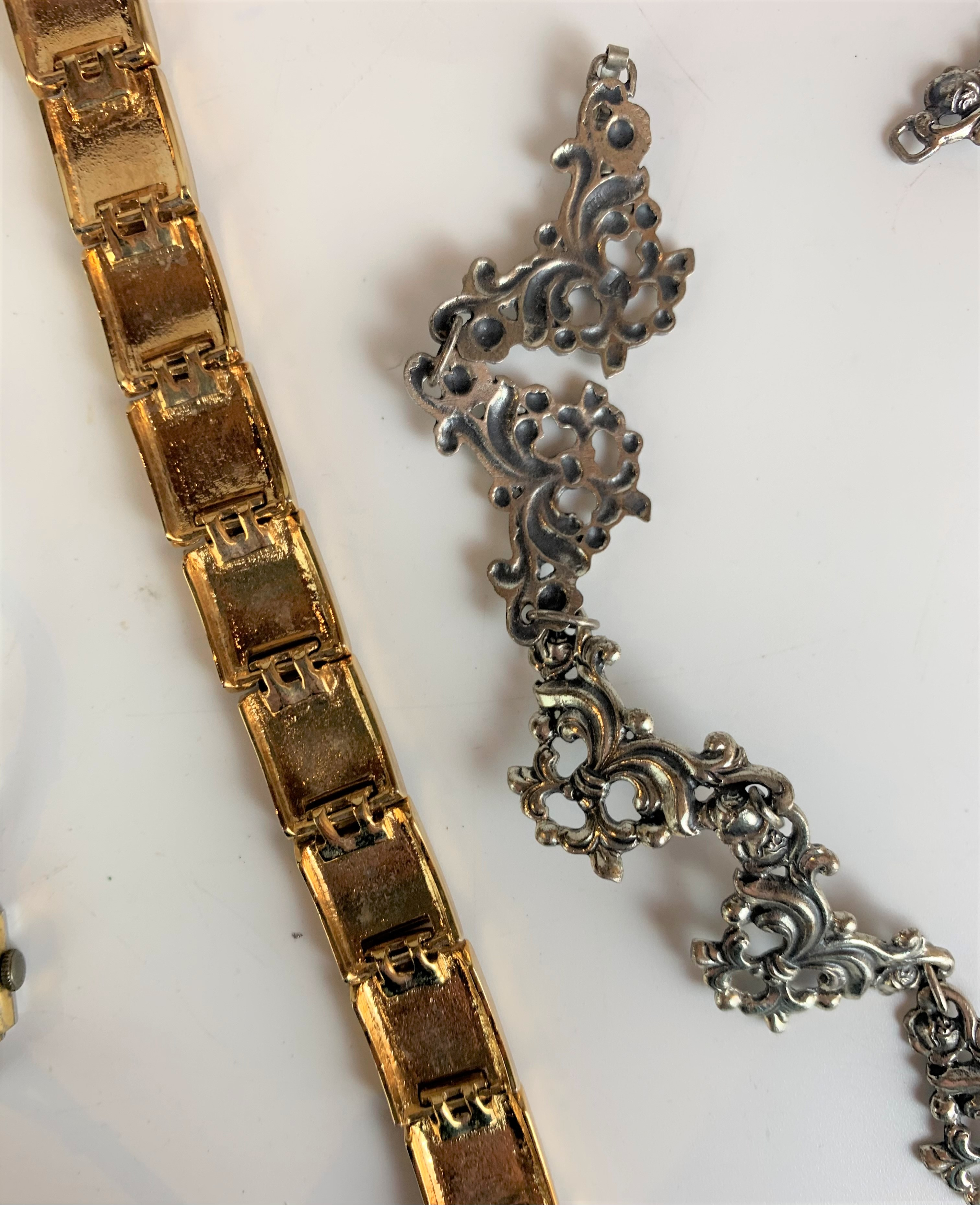 Dress plated necklace, enamel bracelet and Arnex ladies watch - Image 4 of 5
