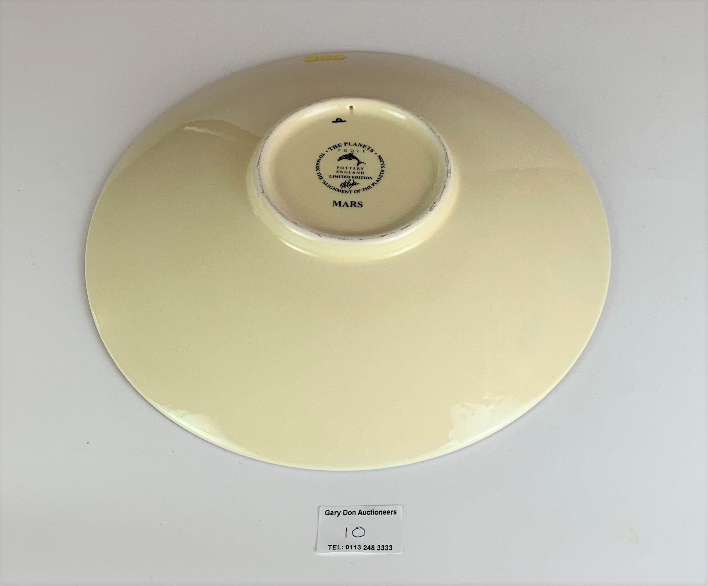"""Limited edition Poole plate, Mars, to mark the Alignment of the Planets 2000, 10.5"""" diameter, no - Image 6 of 7"""