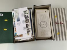 2 shoeboxes of First Day Covers