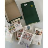 Shoebox of football First Day Covers