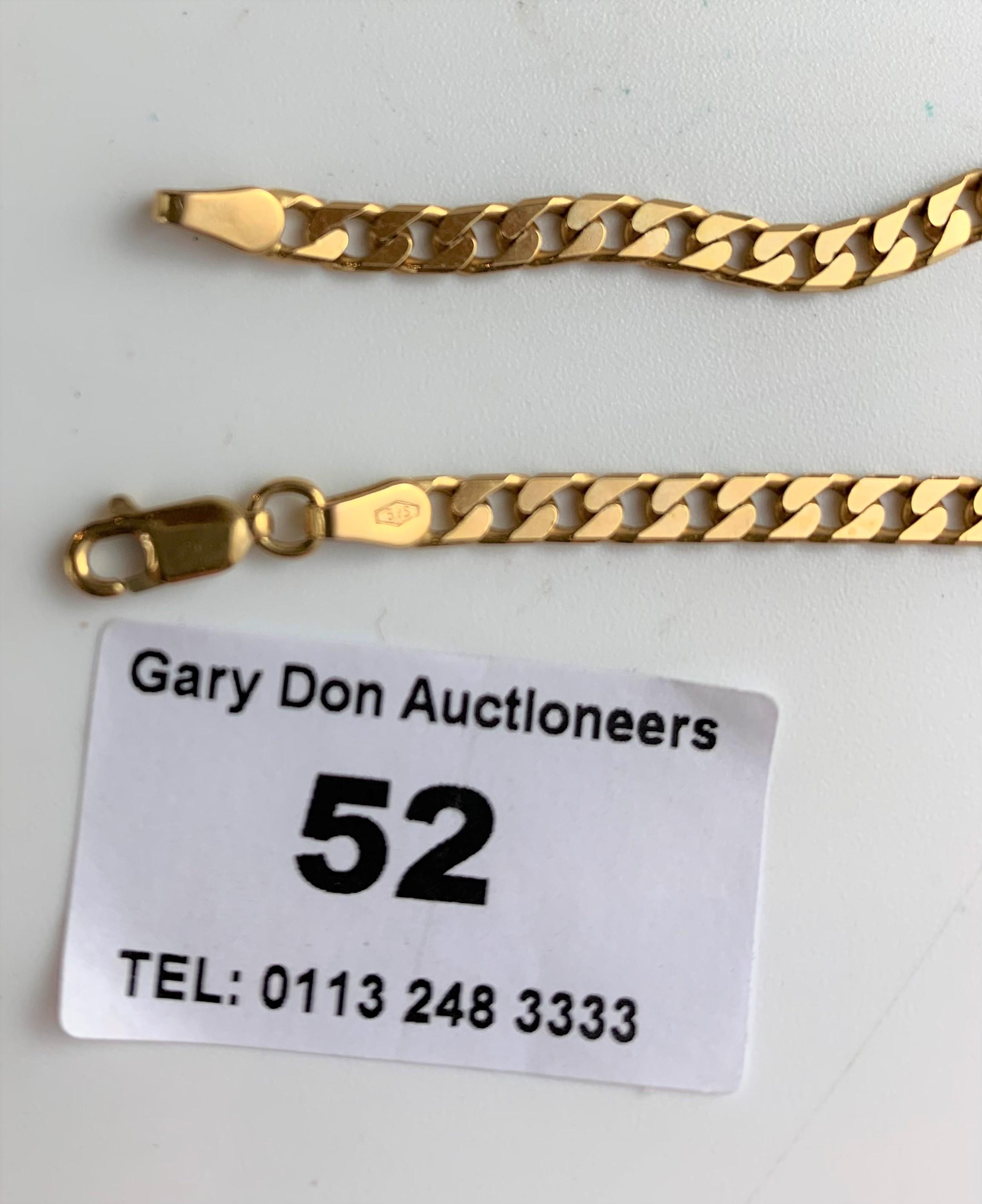"""9k gold necklace, length 18"""", w: 12 gms"""