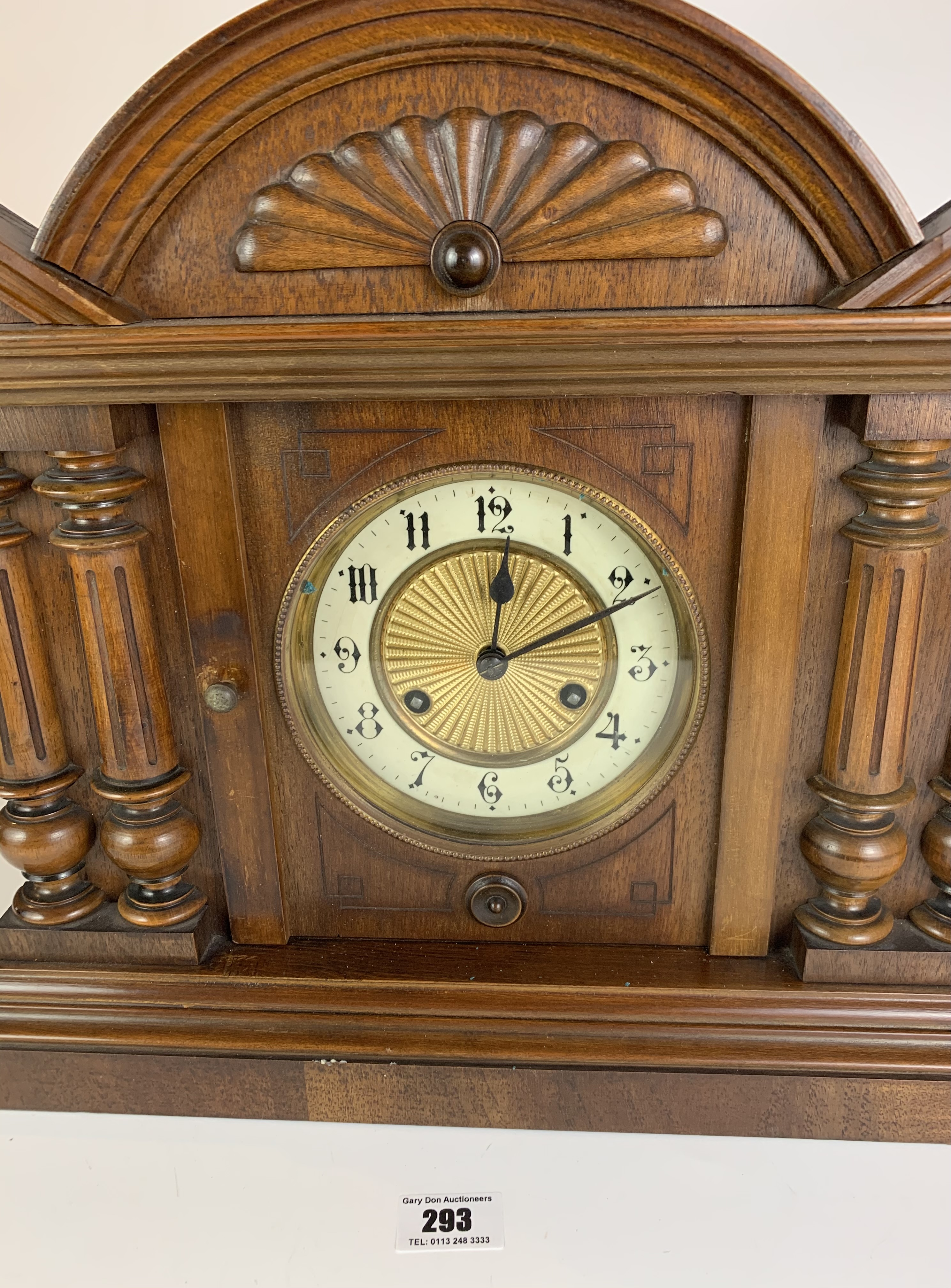 """Antique mantle clock, 14.5"""" high, 16.5"""" wide - Image 3 of 6"""