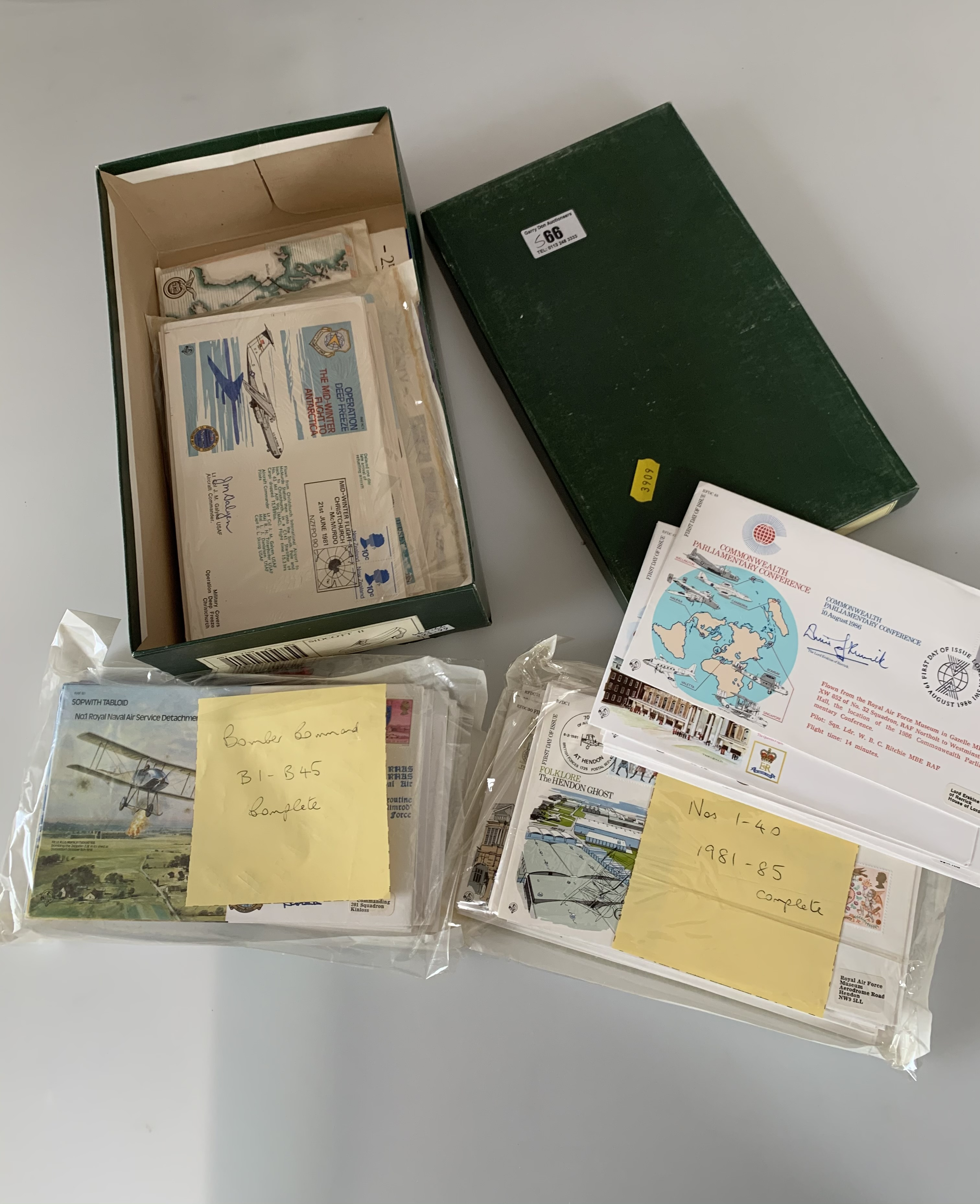 Shoebox of First Day Covers including RAF