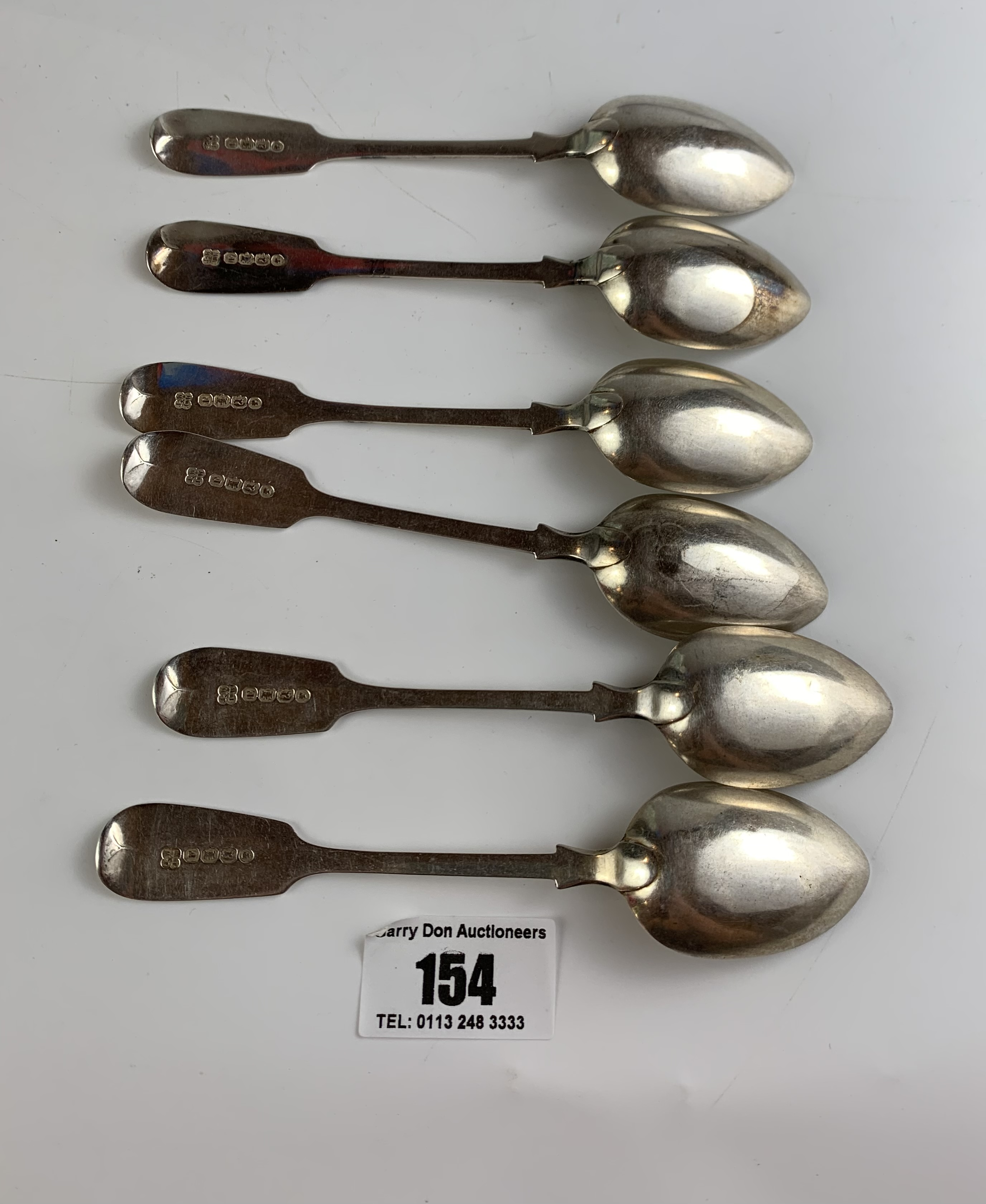 Set of 6 silver teaspoons, w: 3.37 ozt - Image 2 of 2