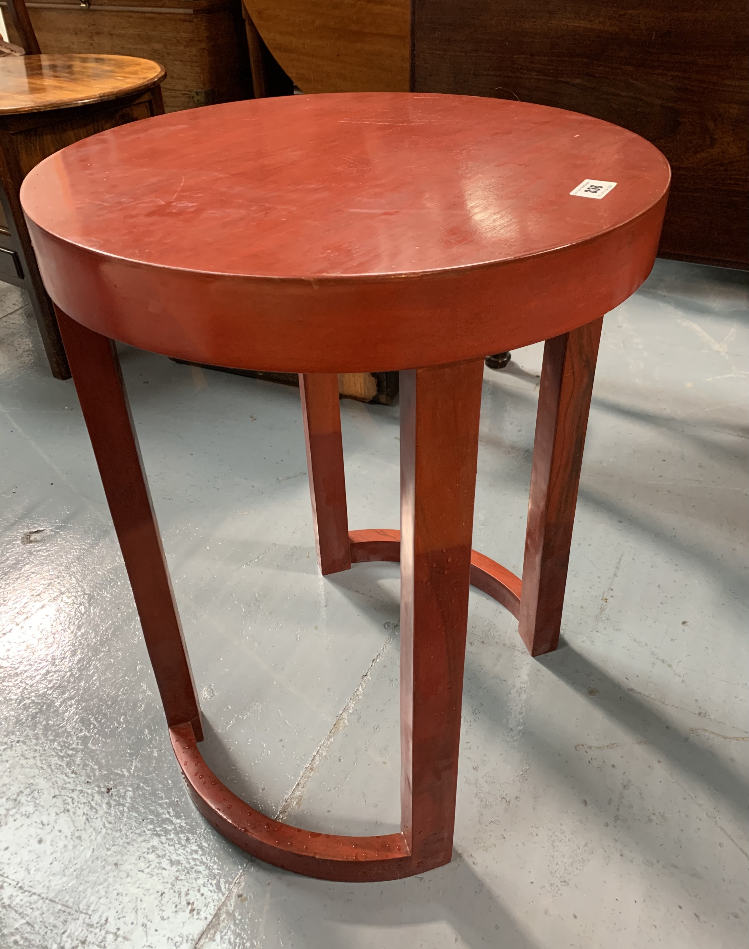 """Modern round occasional table, 18"""" diameter, 24"""" high - Image 3 of 4"""
