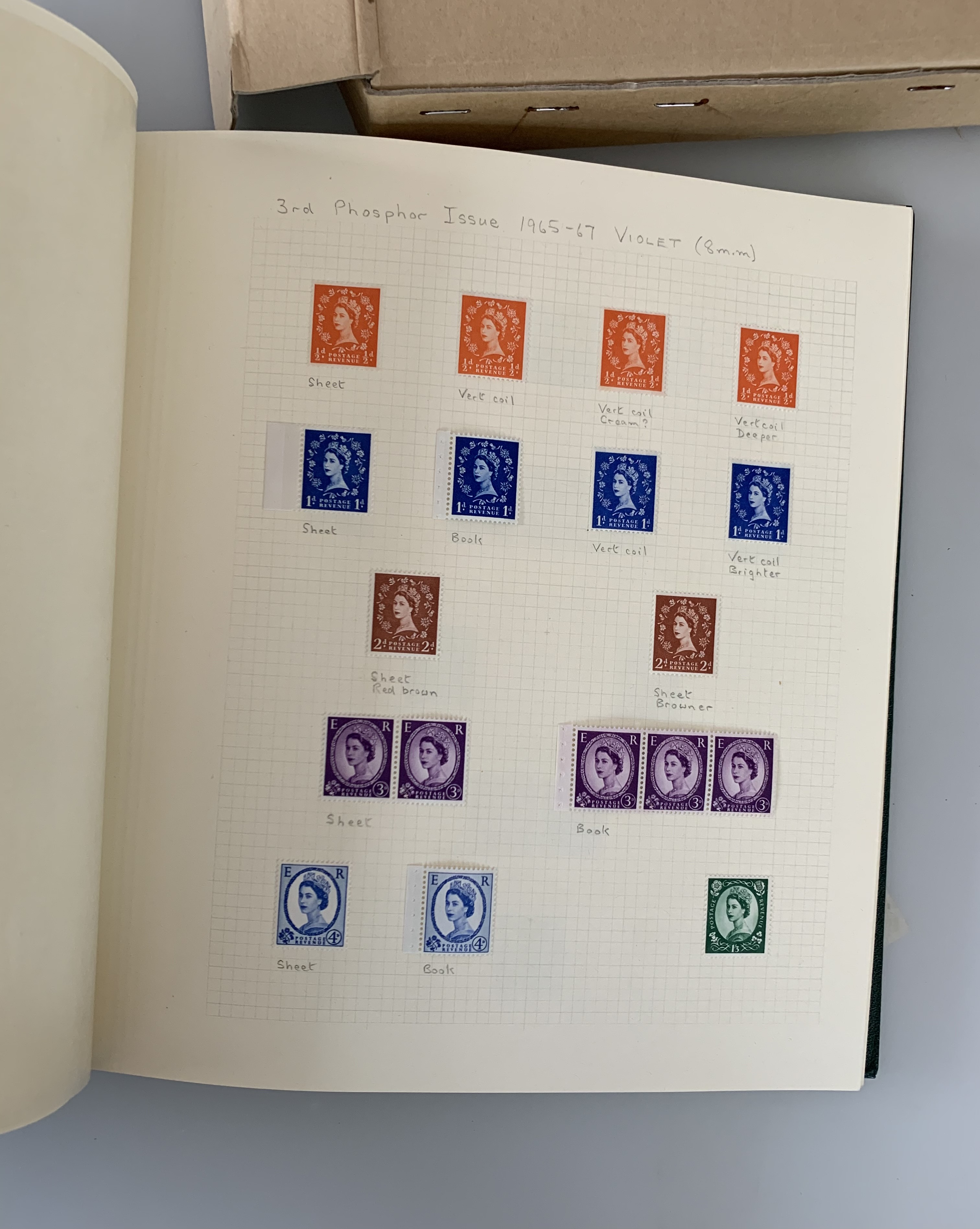 Boxed green album of GB definitives up to 1970 - Image 2 of 3