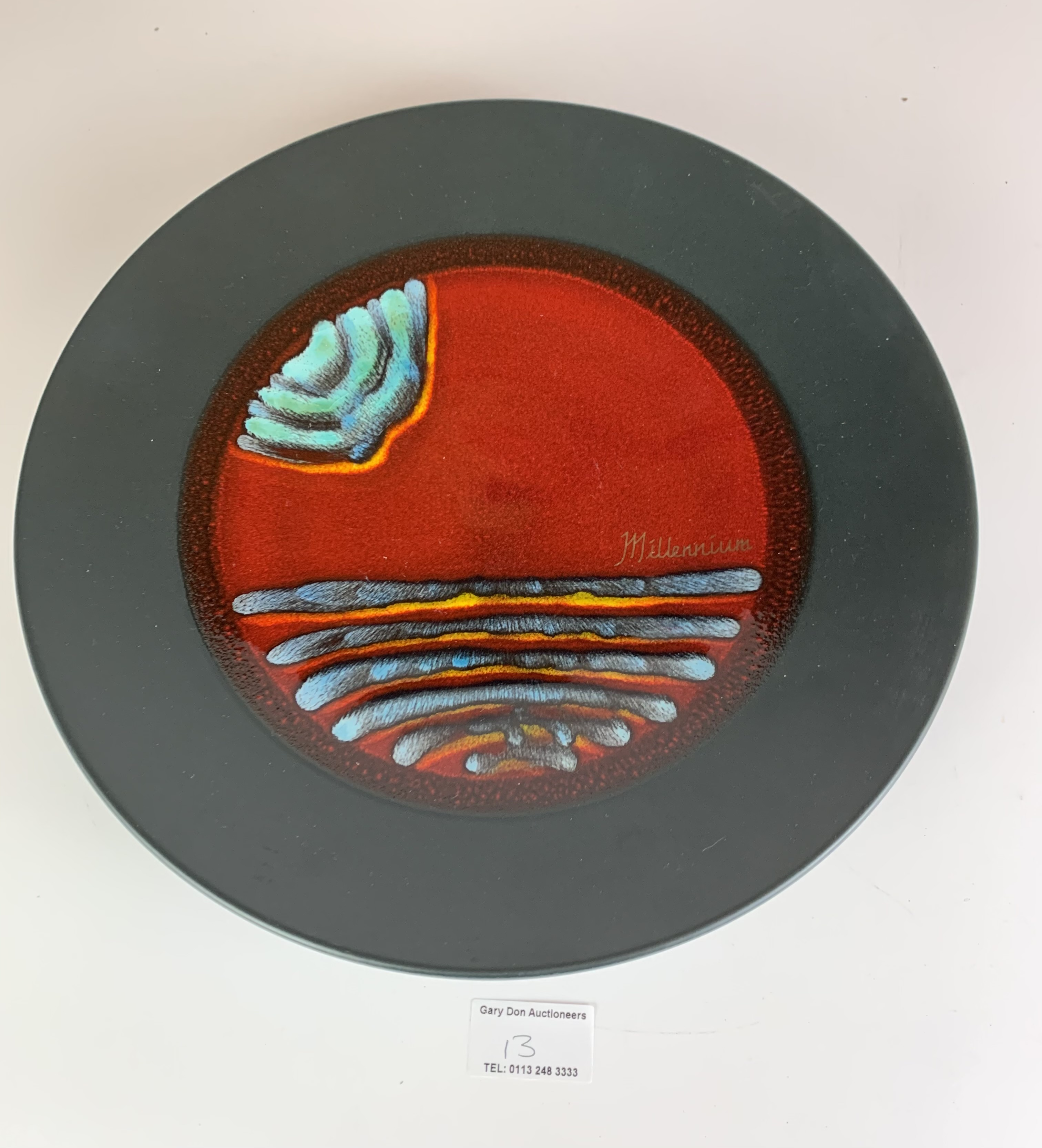 """Limited edition Poole plate, Millennium no. 211/500 with certificate, 10.5"""" diameter, no damage - Image 3 of 6"""