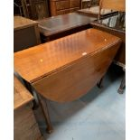 """Dropleaf padfoot gateleg table. 50"""" wide open, 16"""" closed, 28"""" high, 40"""" long"""