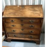 """Antique walnut bureau with fitted interior. 40"""" high, 36"""" wide, 20"""" deep"""