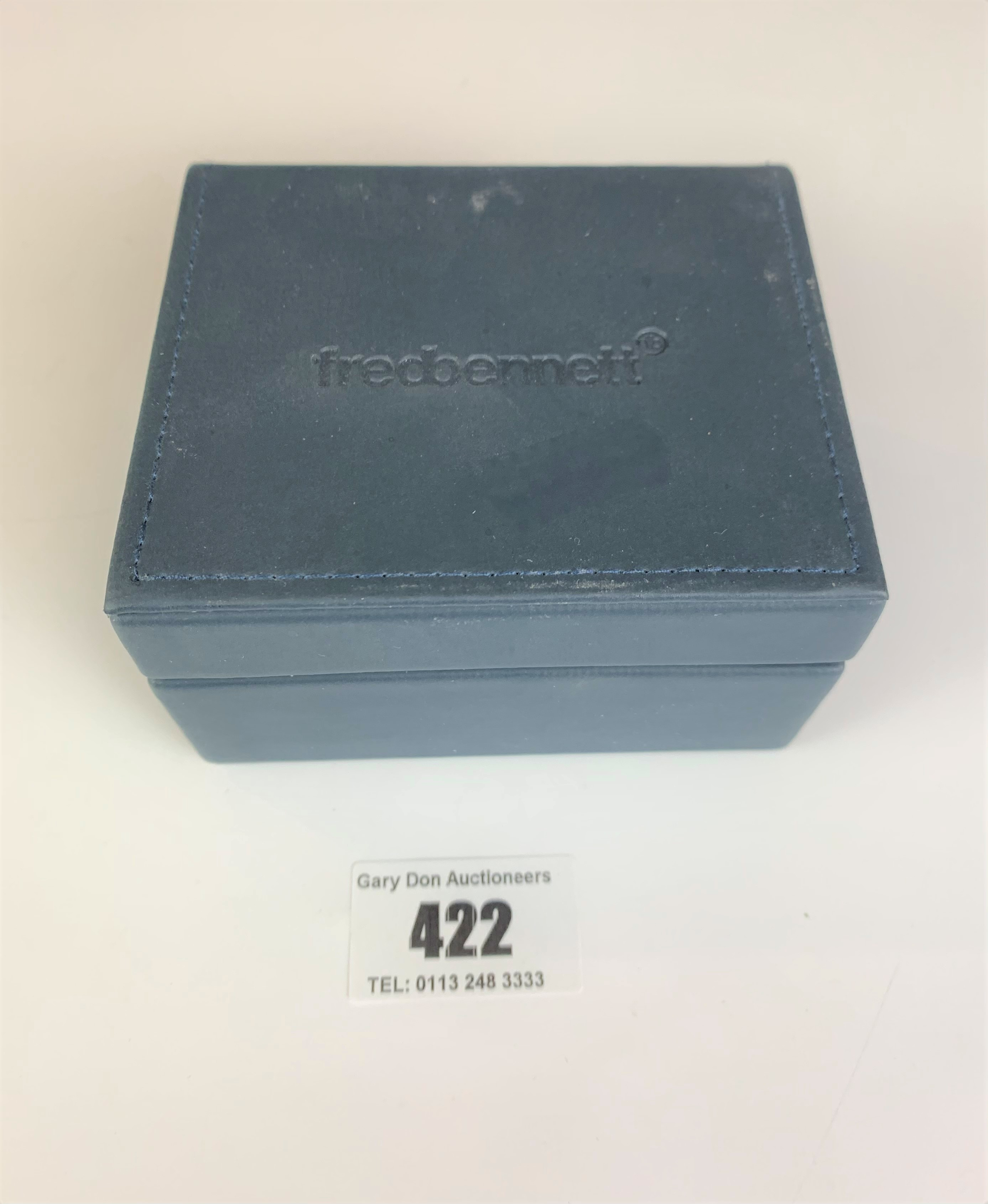 Boxed set of silver Fred Bennett cufflinks, total w: 0.3 ozt - Image 2 of 4