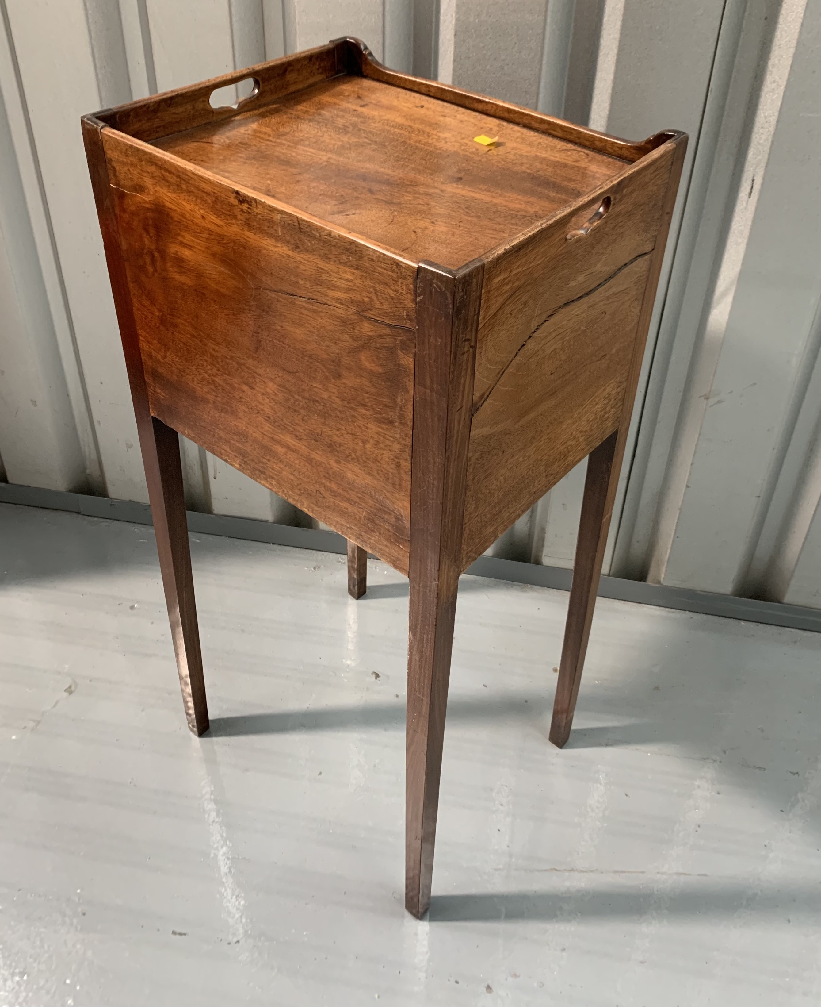 """Mahogany pot cupboard/stand. 31"""" high, 14"""" wide, 12"""" deep - Image 6 of 7"""