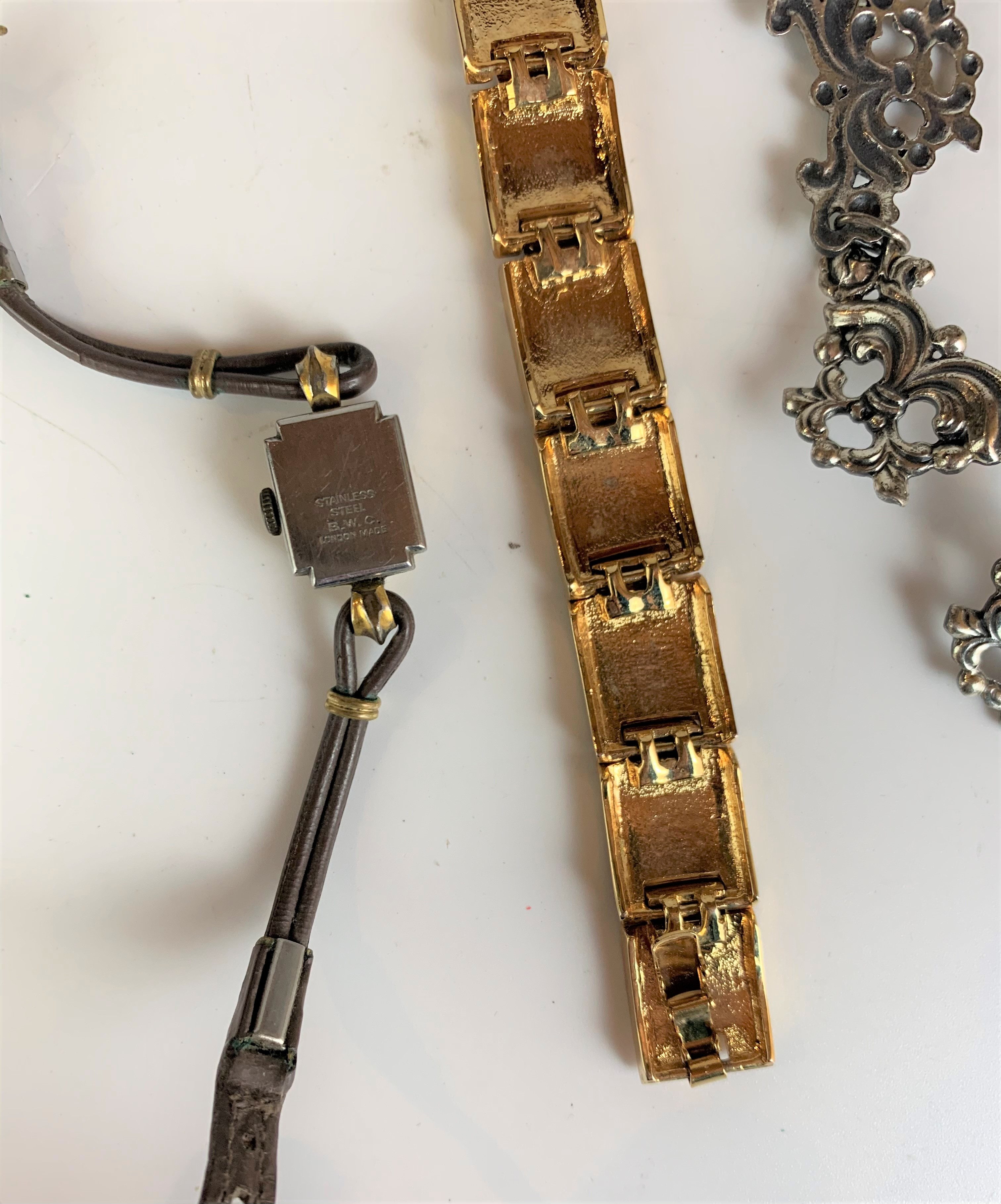 Dress plated necklace, enamel bracelet and Arnex ladies watch - Image 5 of 5