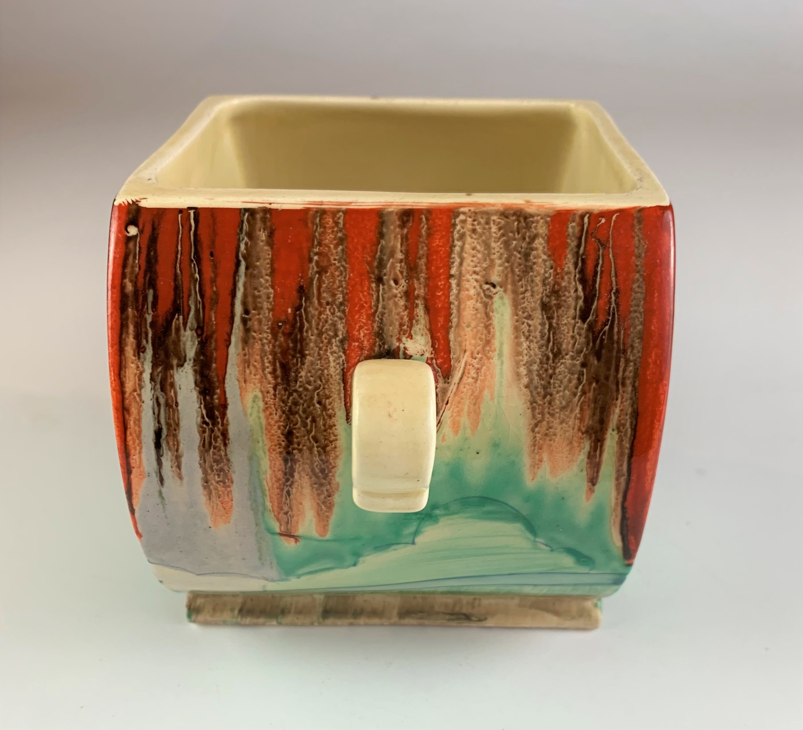 """Clarice Cliff Bizarre biscuit barrel, 4.5"""" high x 7"""" wide. No damage - Image 3 of 8"""