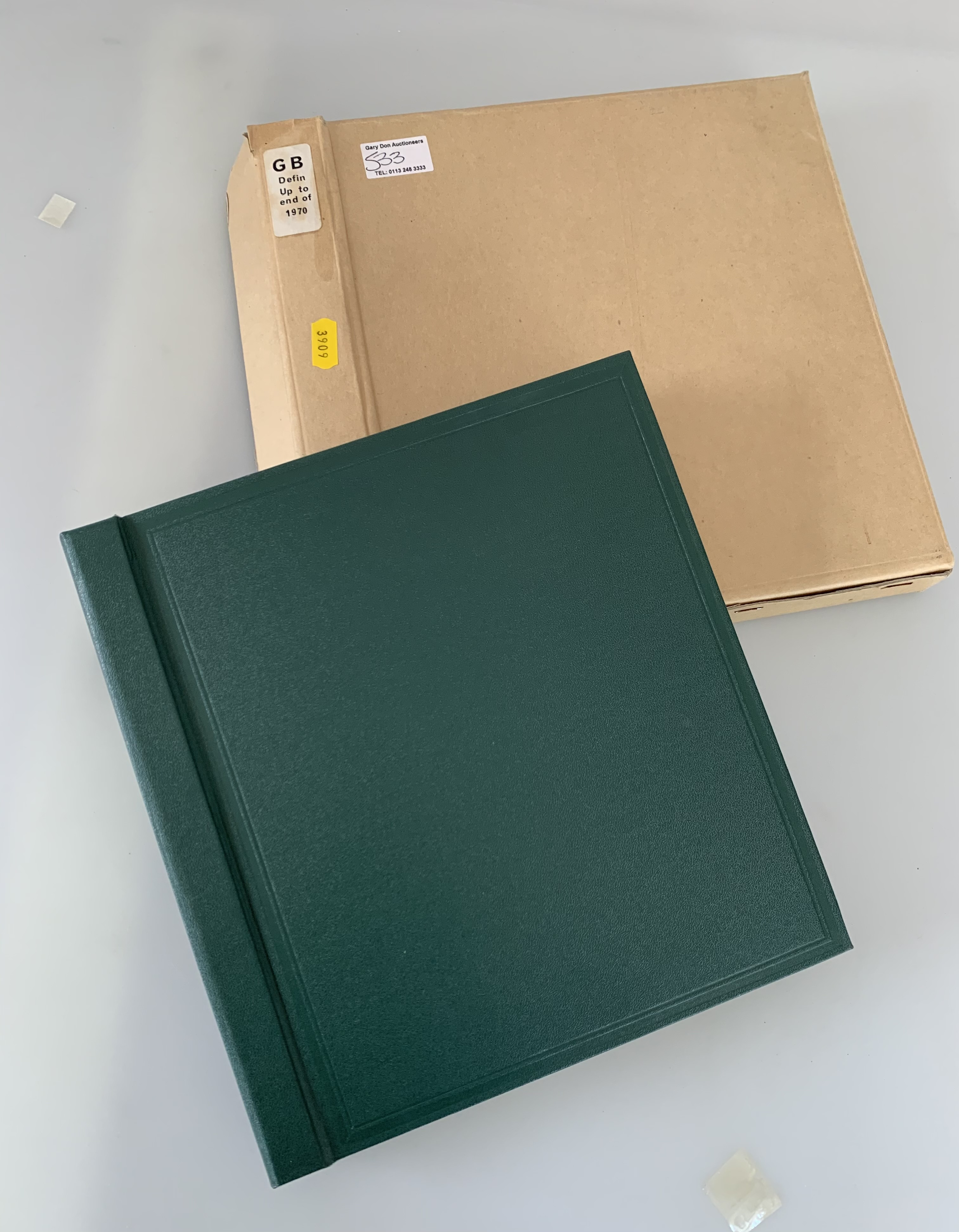 Boxed green album of GB definitives up to 1970