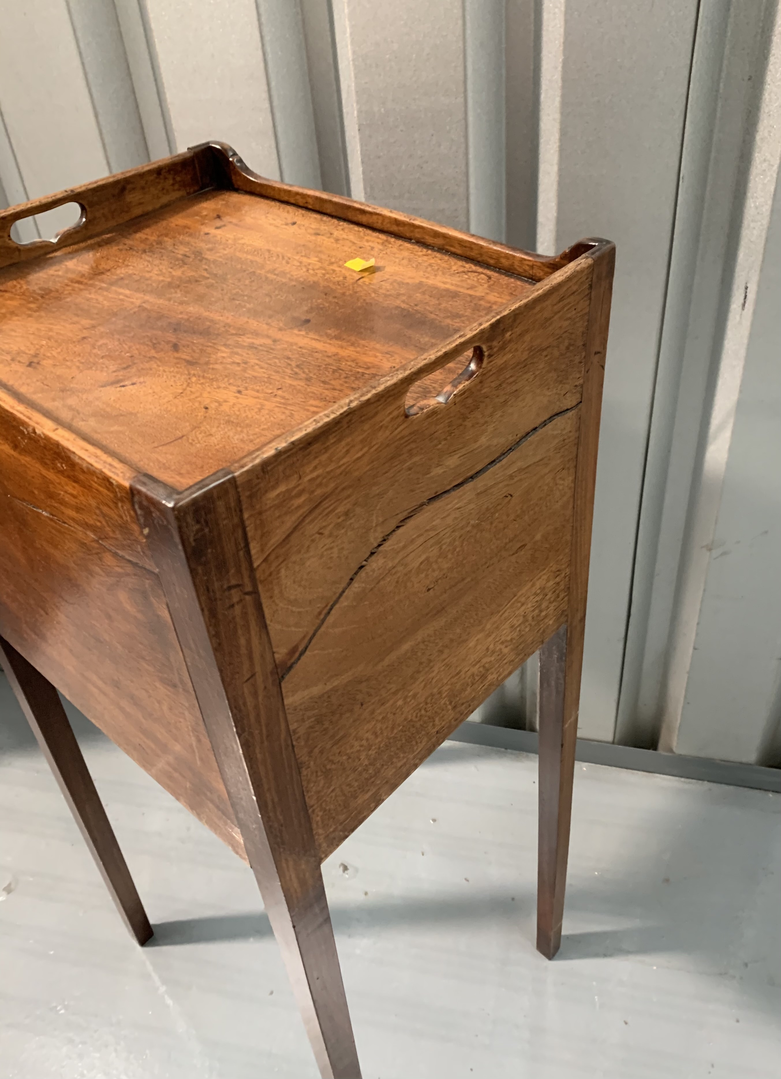 """Mahogany pot cupboard/stand. 31"""" high, 14"""" wide, 12"""" deep - Image 7 of 7"""