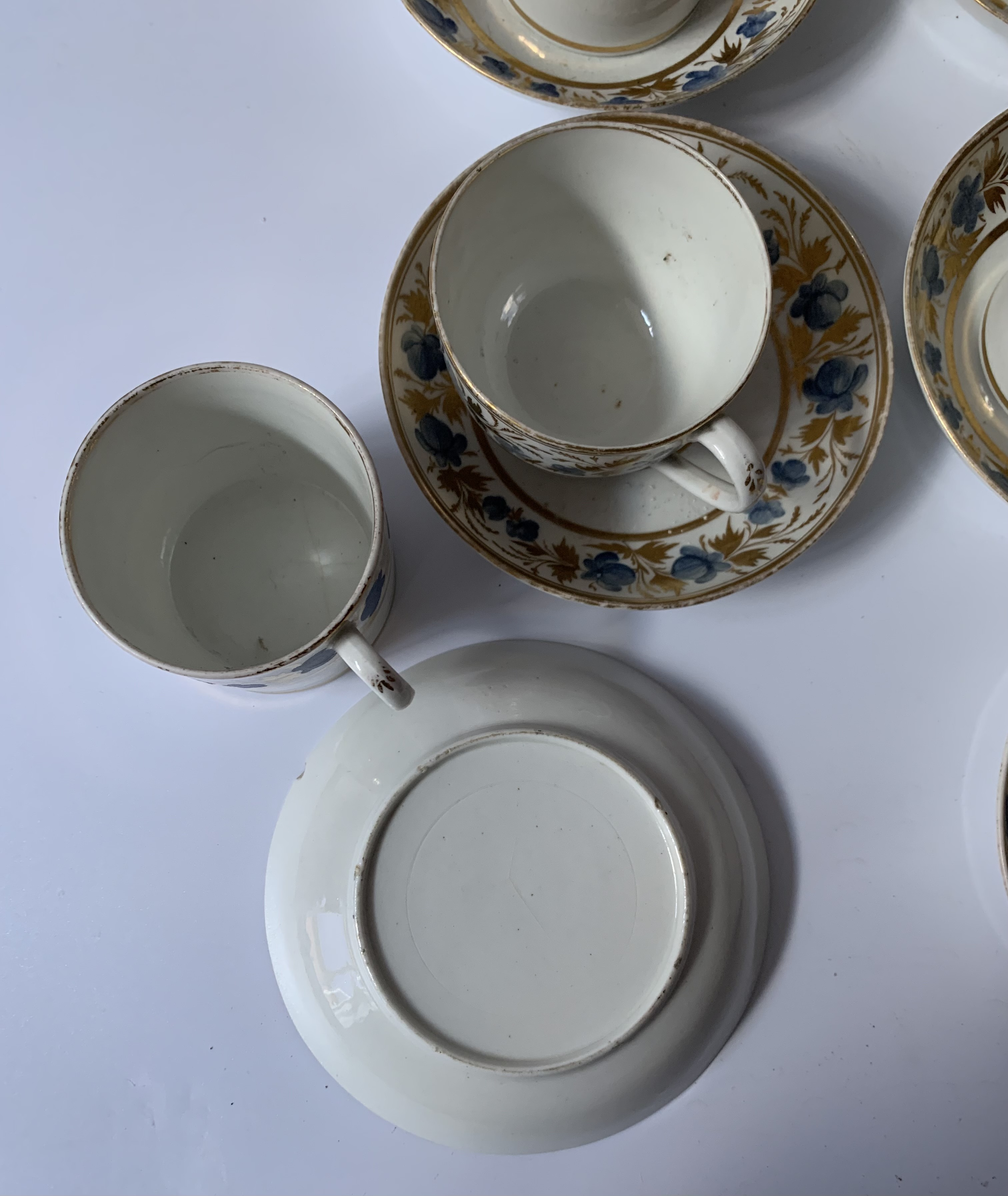 2 part blue/gilt tea and coffee sets - Image 4 of 6